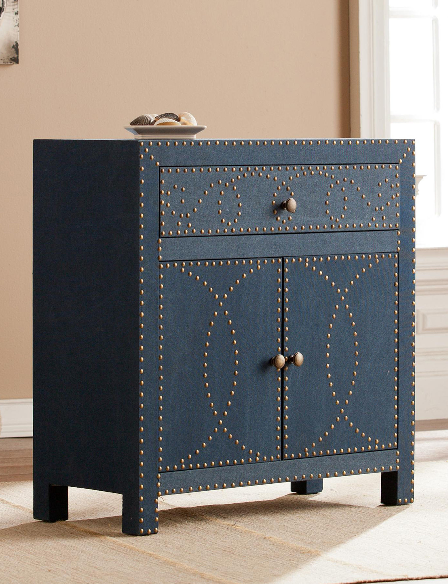 Southern Enterprises Navy Cabinets & Cupboards Living Room Furniture