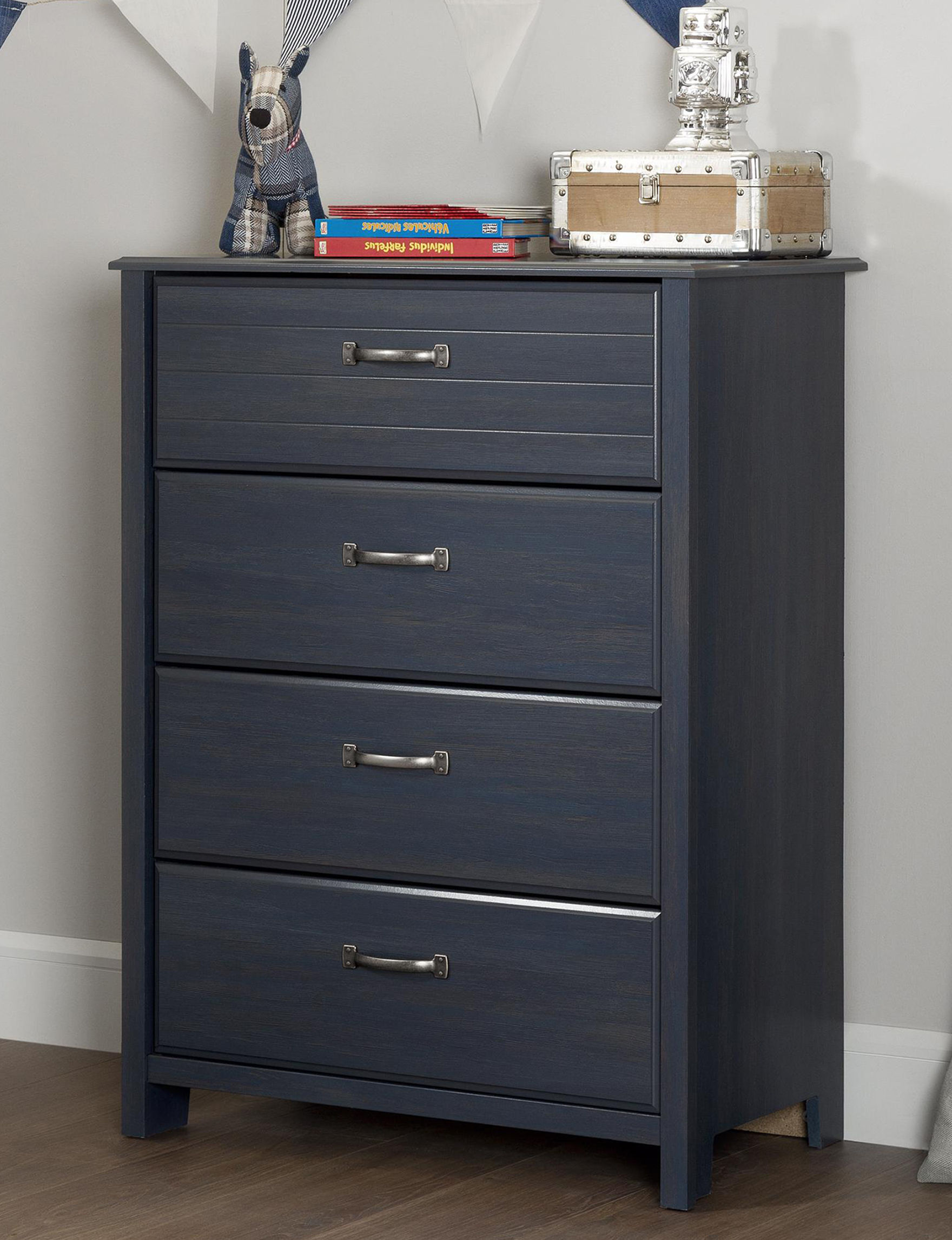 South Shore Blue Dressers & Chests Bedroom Furniture