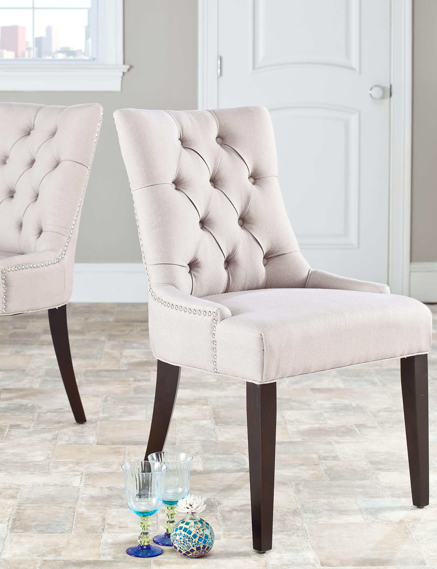 Safavieh Taupe Accent Chairs Living Room Furniture
