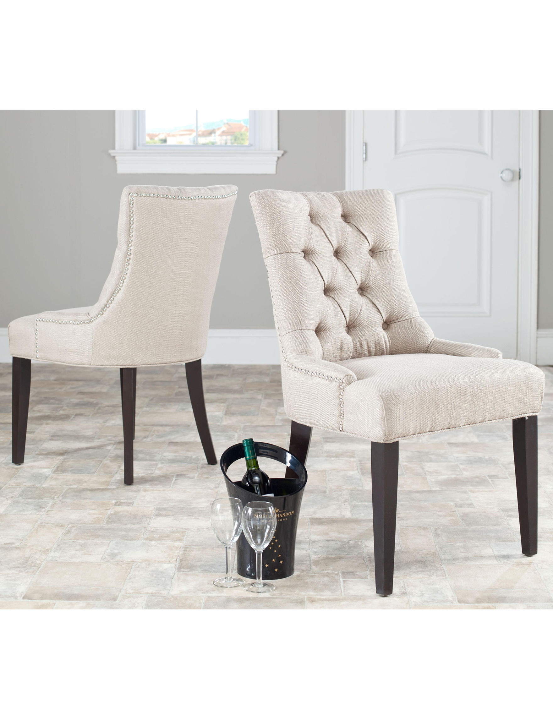 Safavieh Beige Accent Chairs Living Room Furniture