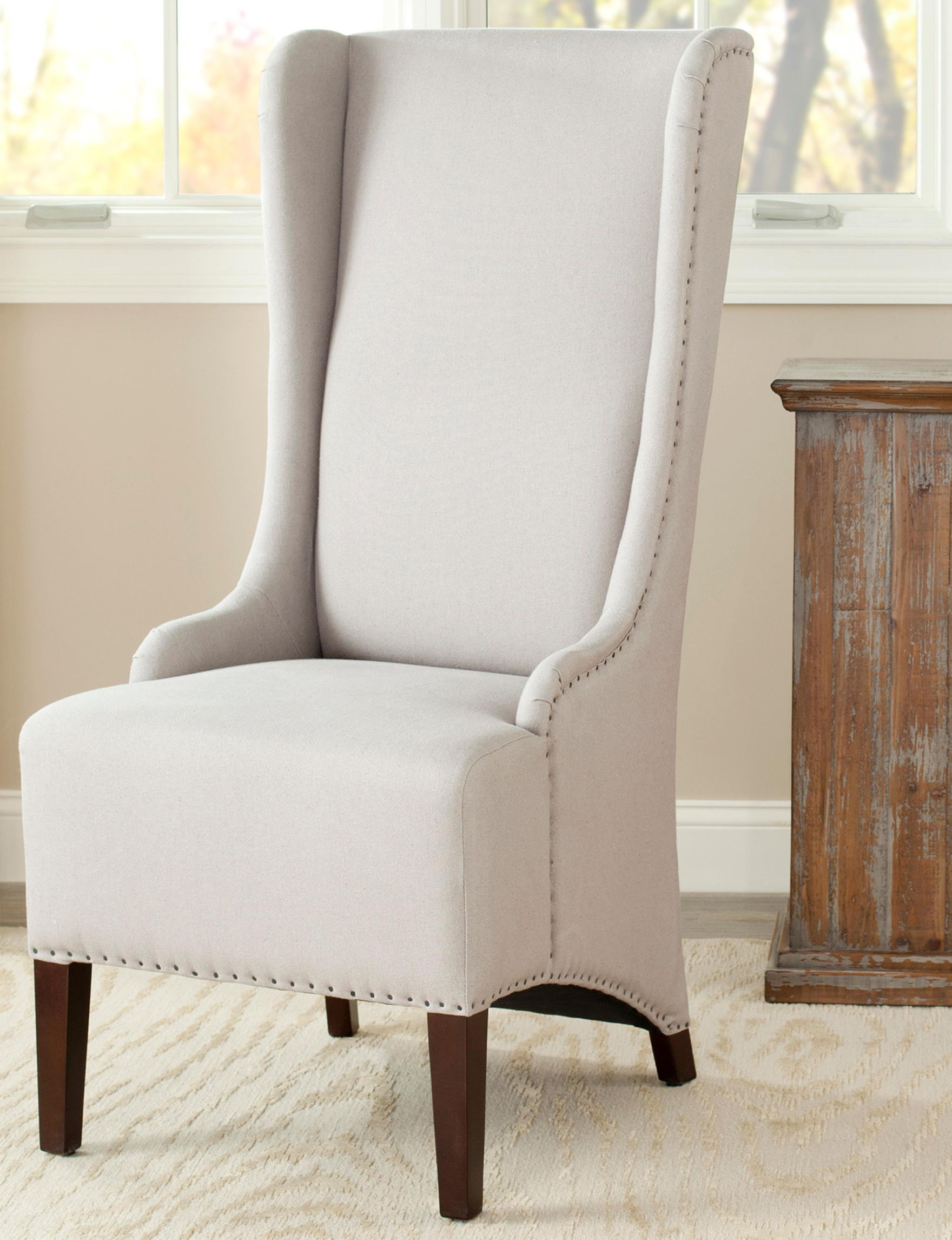 Safavieh Taupe Dining Chairs Kitchen & Dining Furniture