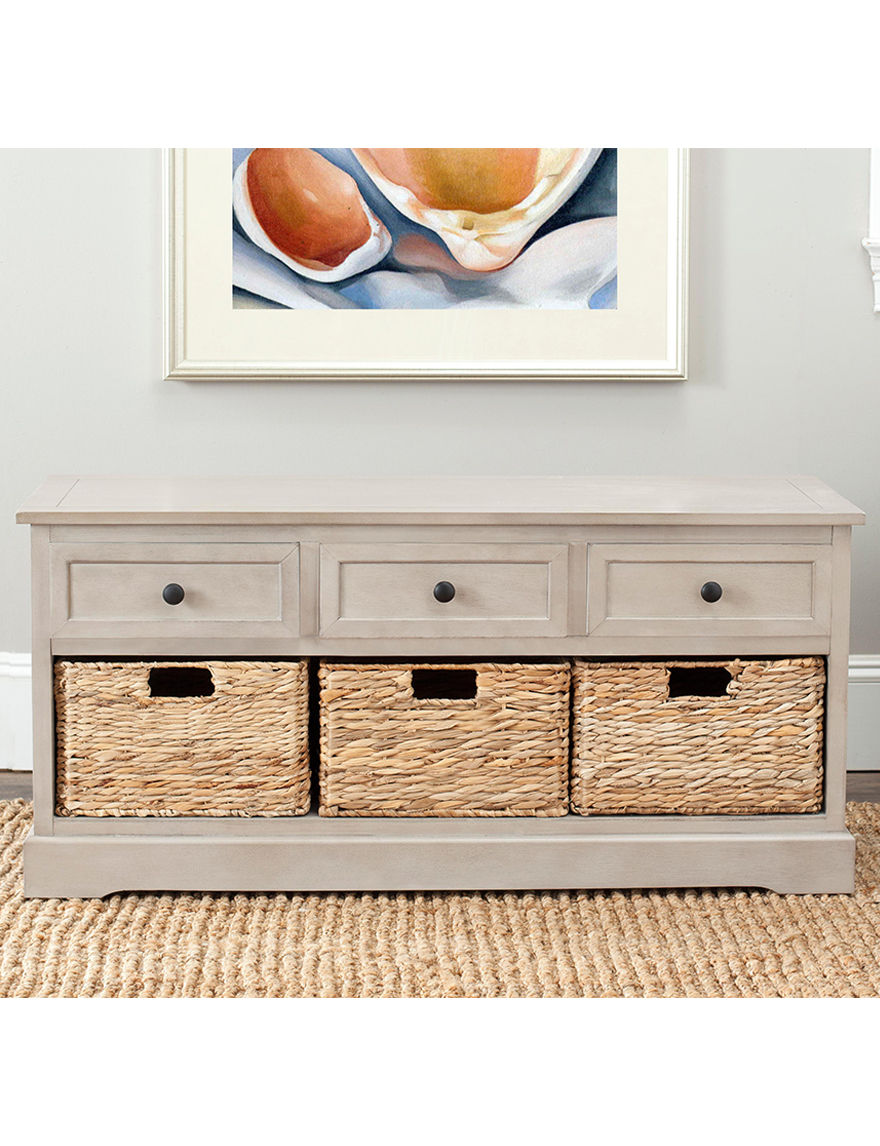 Safavieh Grey Storage Shelves Living Room Furniture