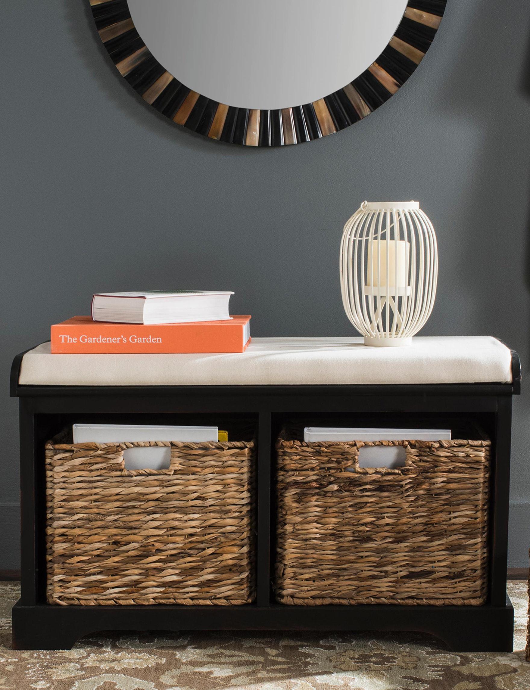 Safavieh Black Ottomans & Benches Living Room Furniture