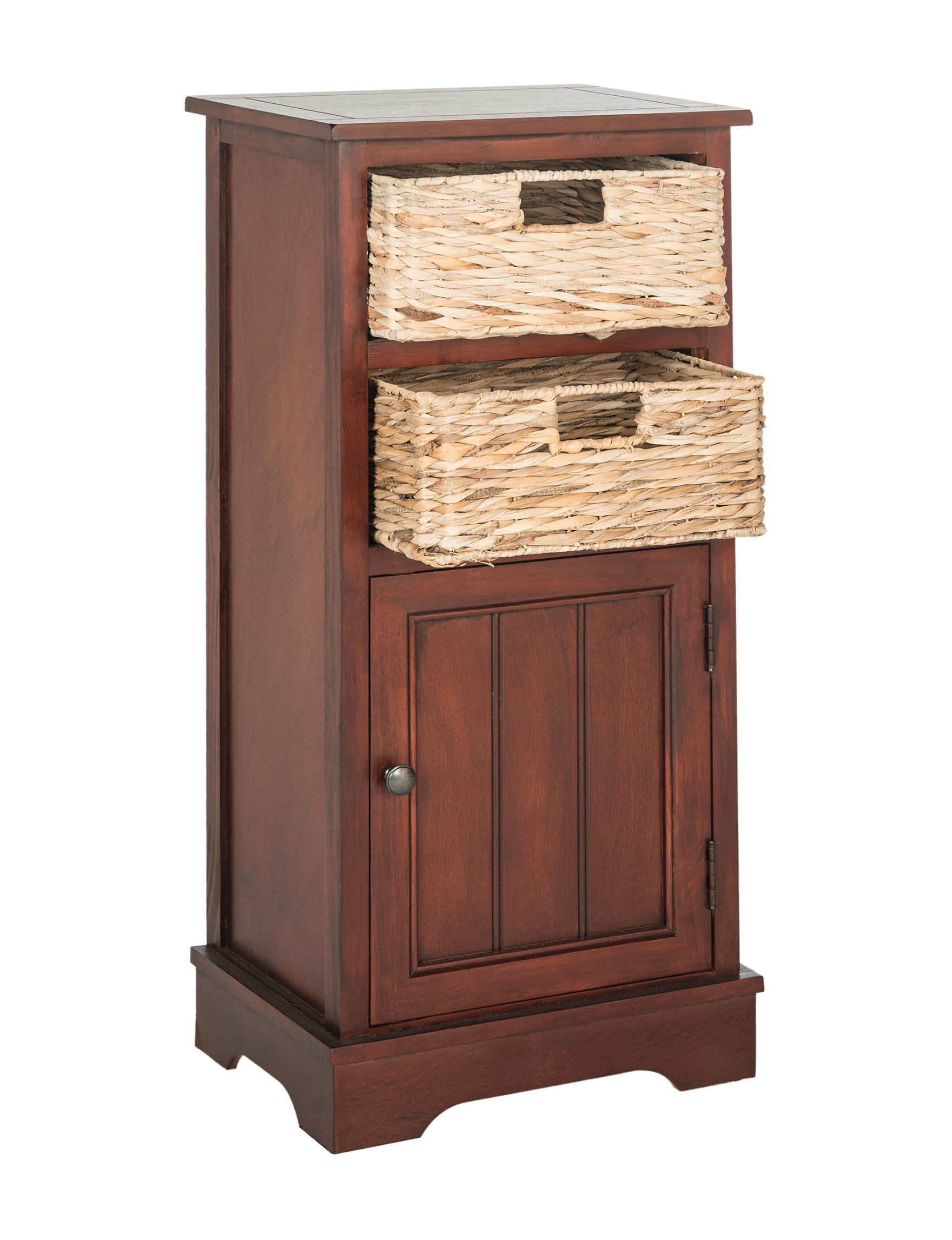 Safavieh Cherry Finish Cabinets & Cupboards Living Room Furniture