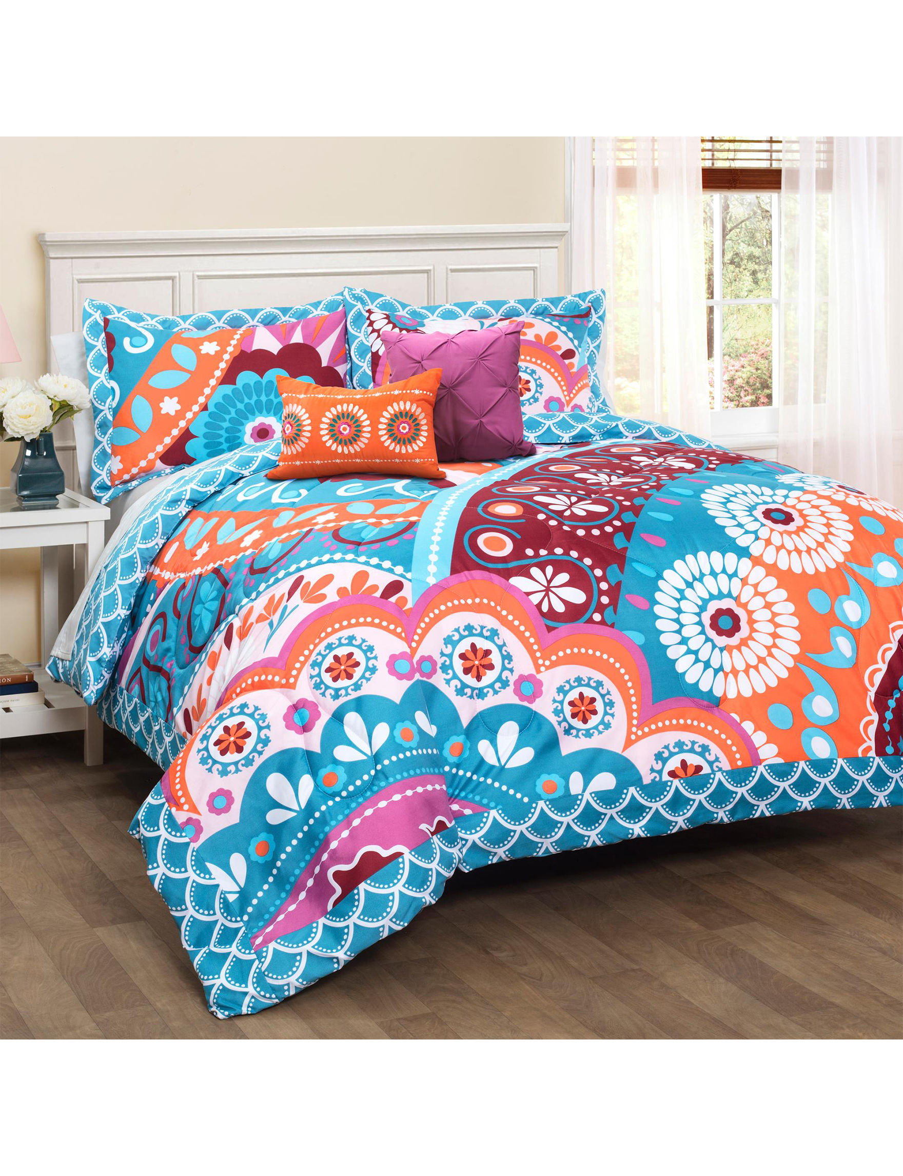 Lush Decor Pink / Blue Comforters & Comforter Sets