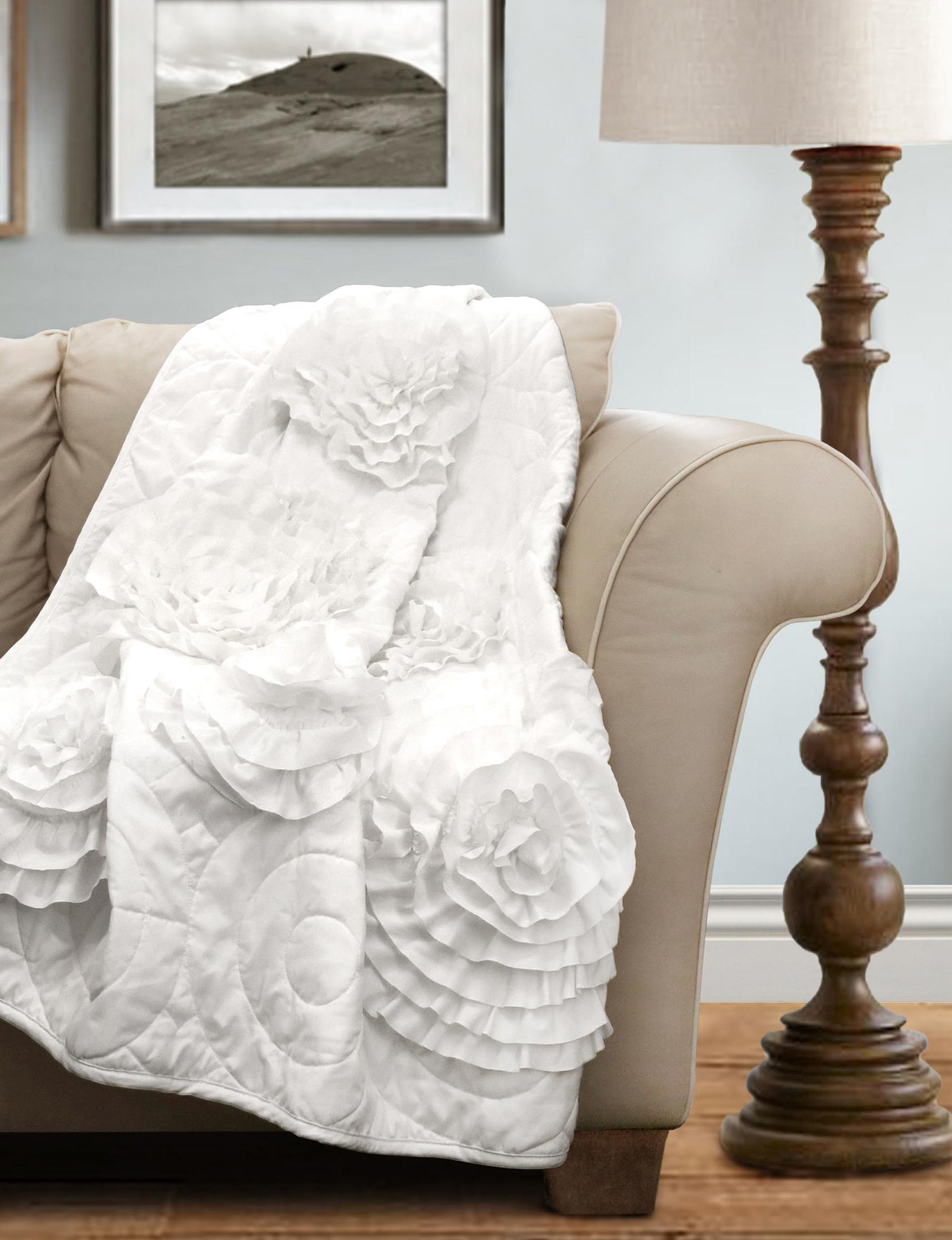 Lush Decor White Blankets & Throws