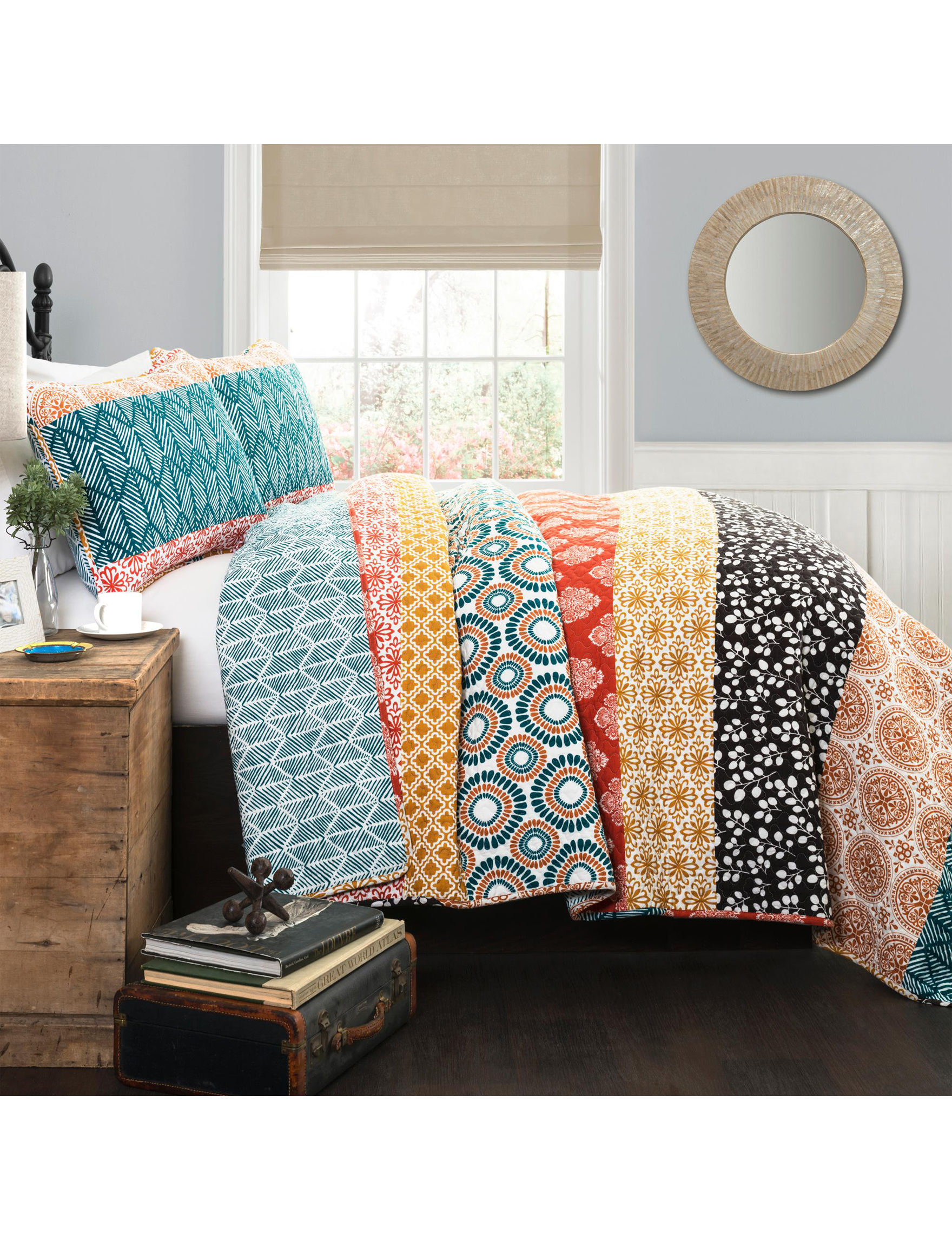 Lush Decor Turquoise/ Orange Quilts & Quilt Sets