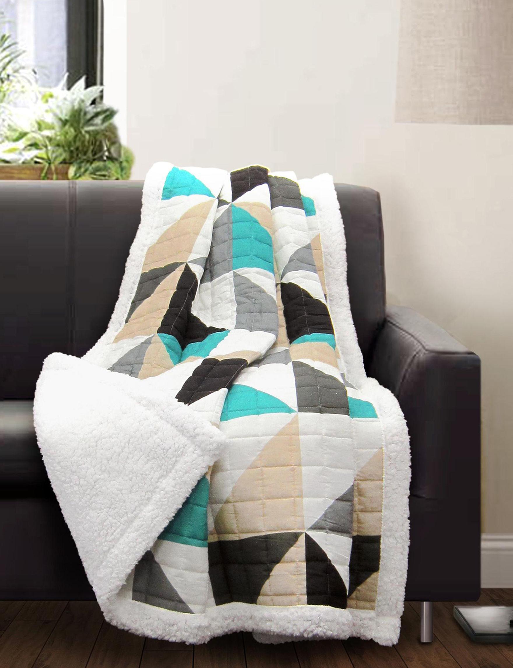 Lush Decor Turqouise Blankets & Throws