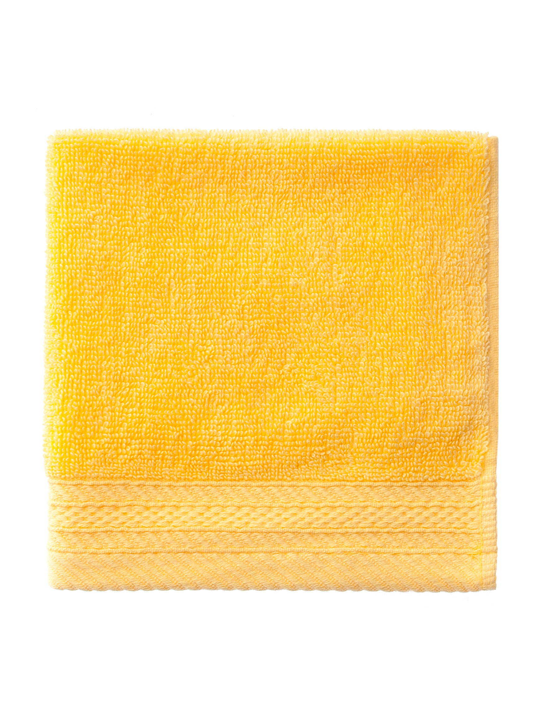 Great Hotels Collection Yellow Washcloths Towels