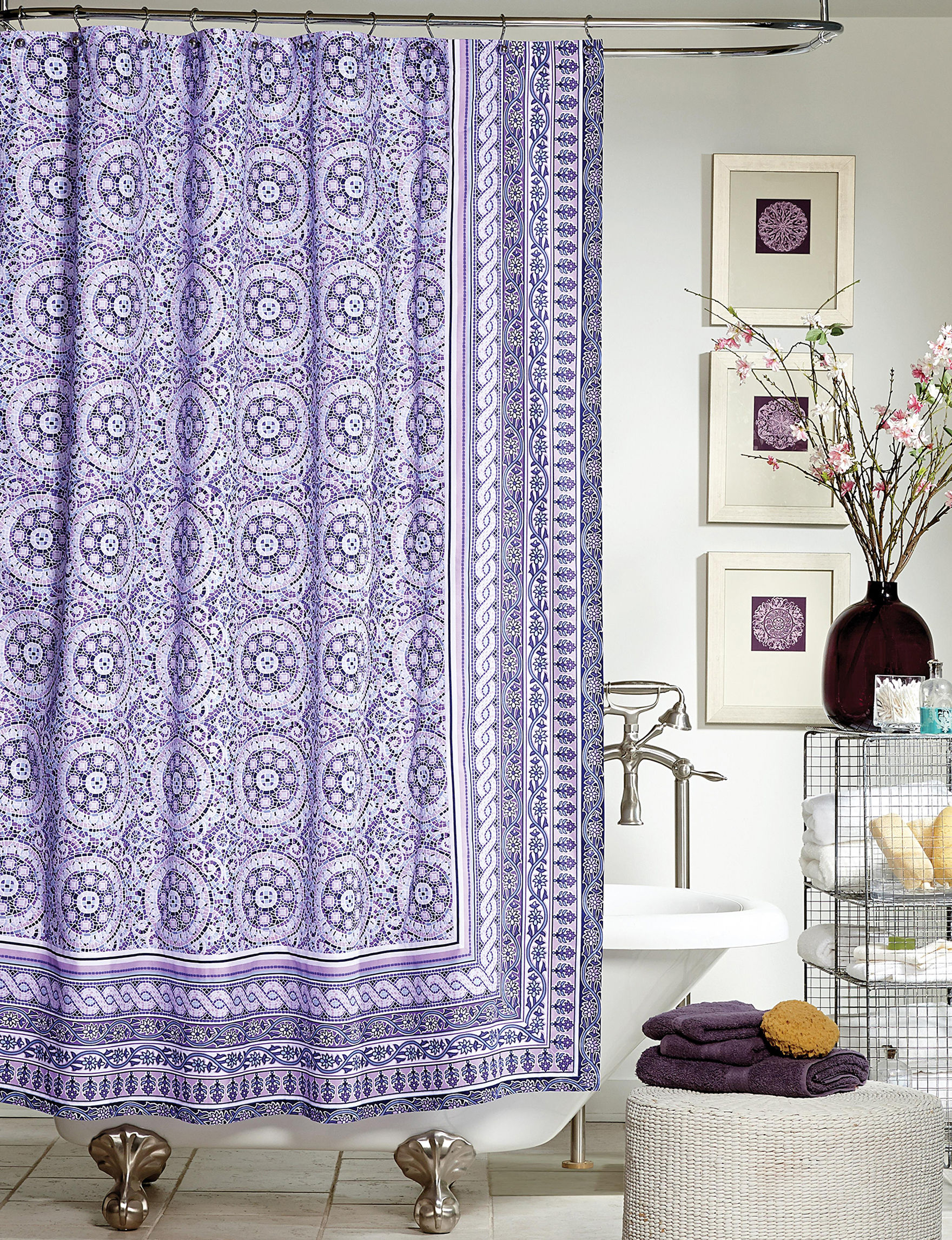 Jessica Simpson Purple Shower Curtains & Hooks