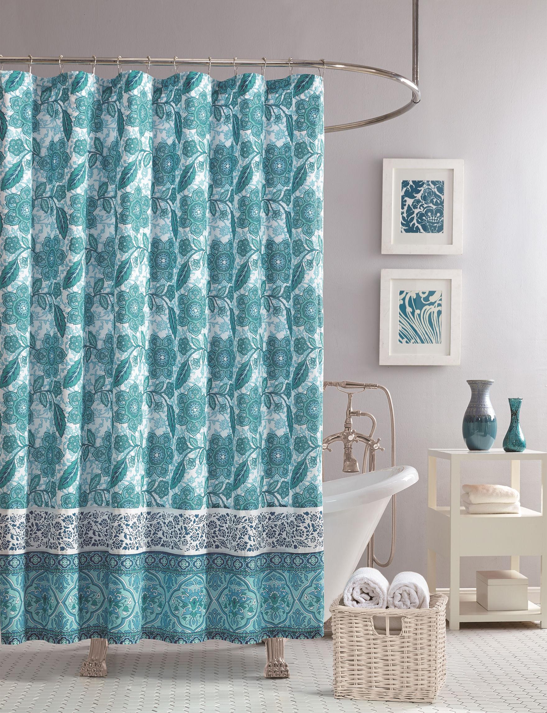 Jessica Simpson Blue Shower Curtains & Hooks
