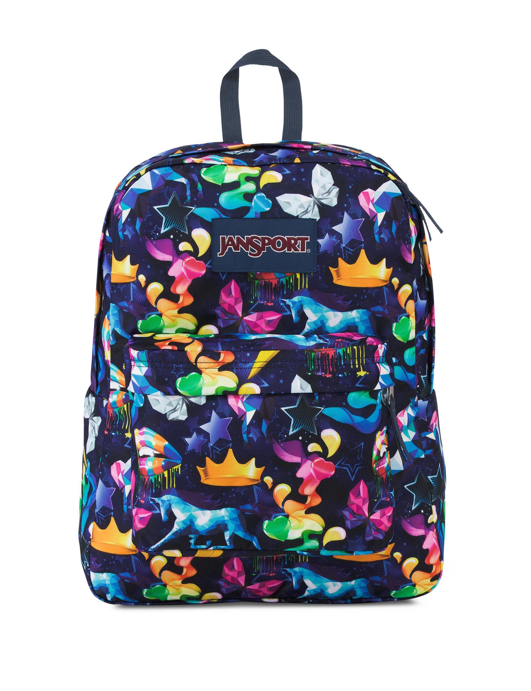 Jansport Blue Multi Bookbags & Backpacks