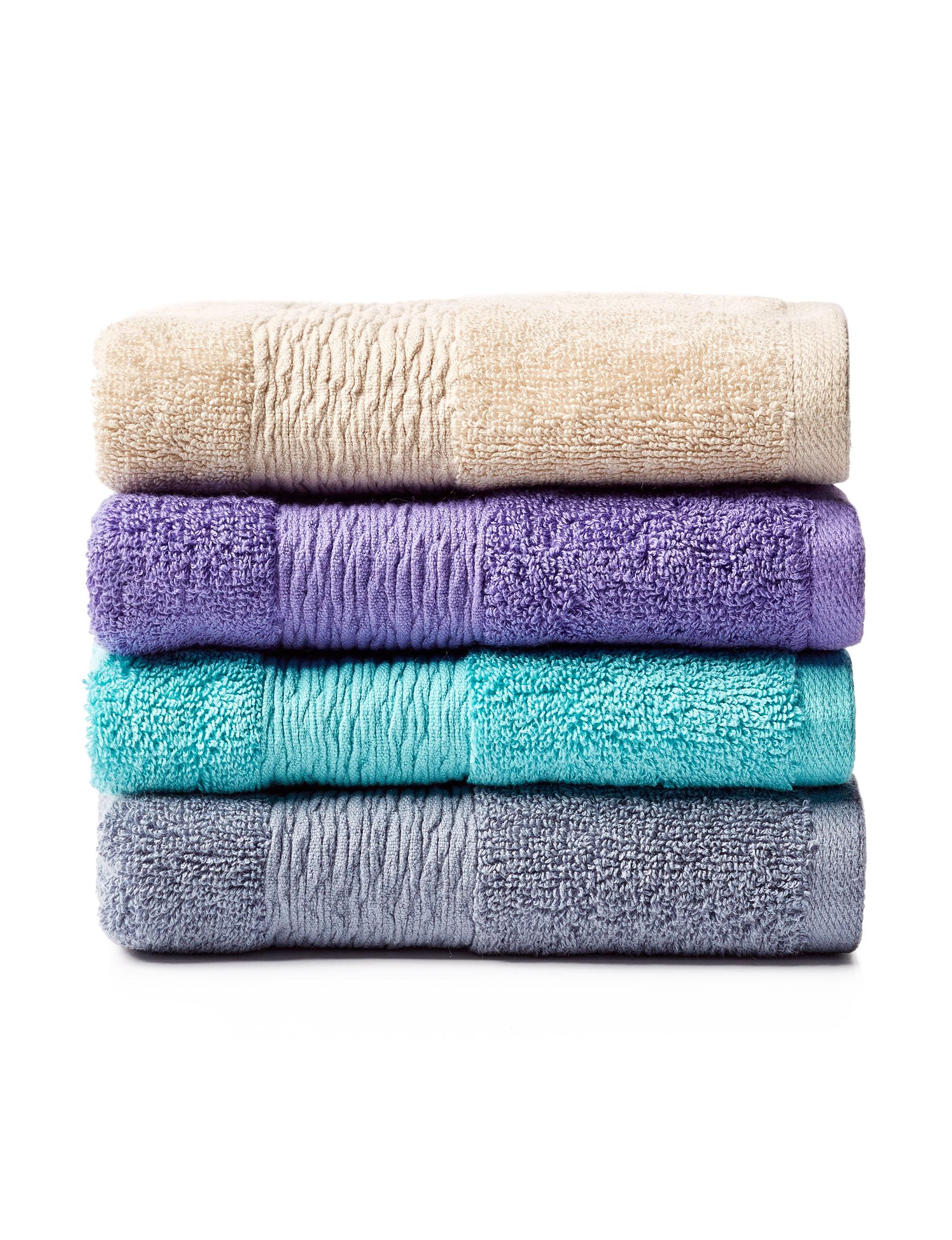 Jessica Simpson Aqua Hand Towels Towels