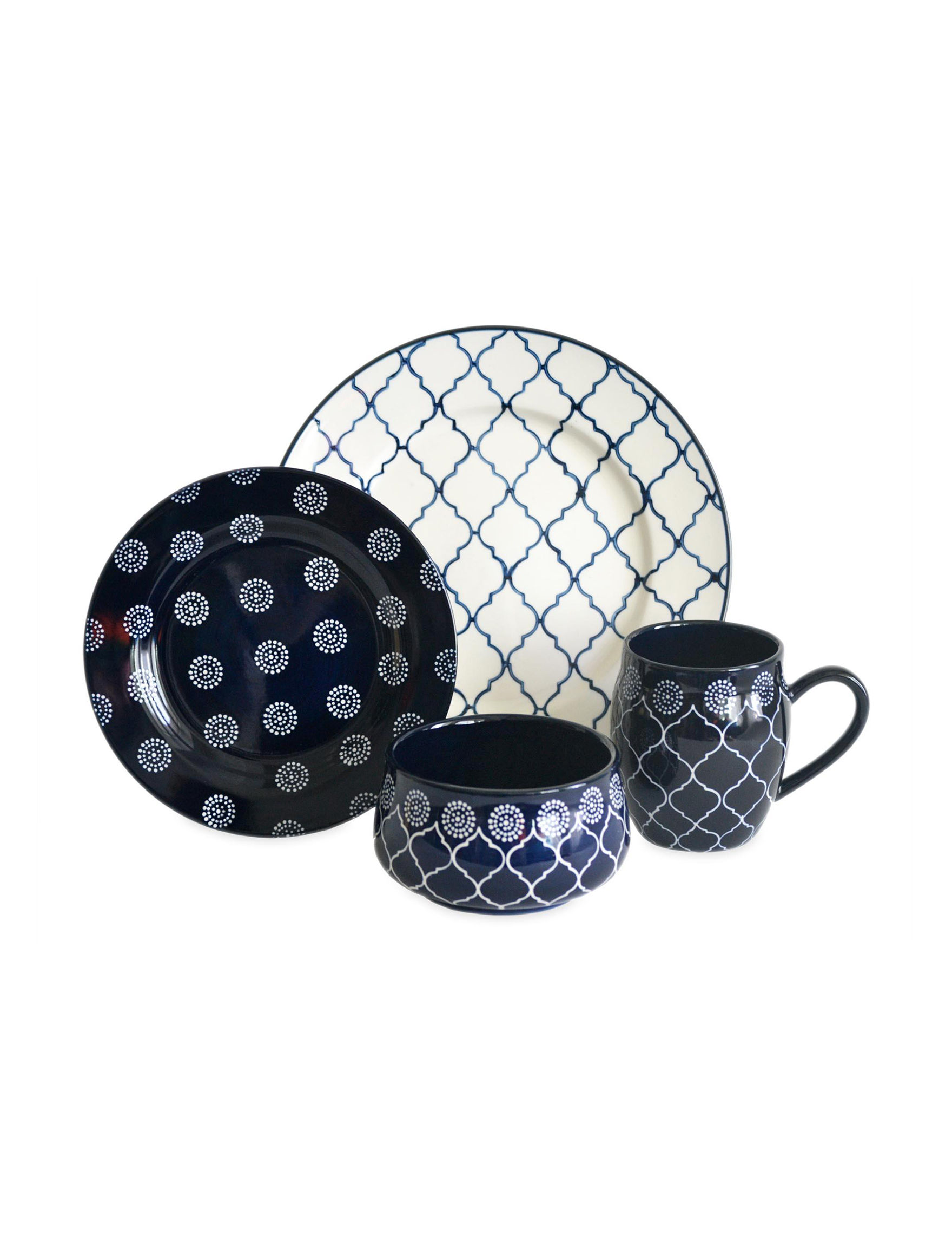 Baum Bros Imports 16-pc. Moroccan Dinnerware Set | Stage Stores