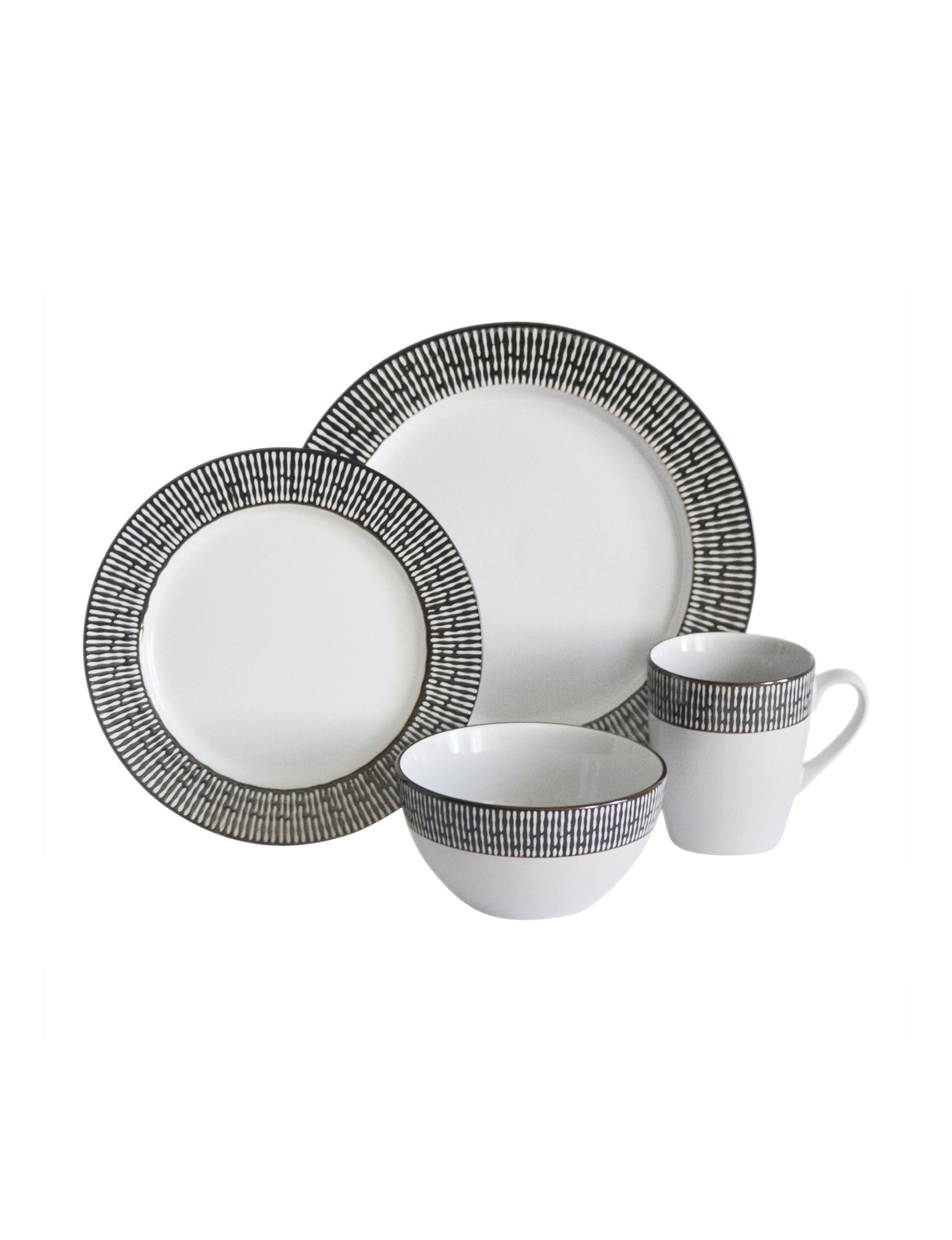 Baum Bros Imports 16-pc. Patina Dinnerware Set | Stage Stores