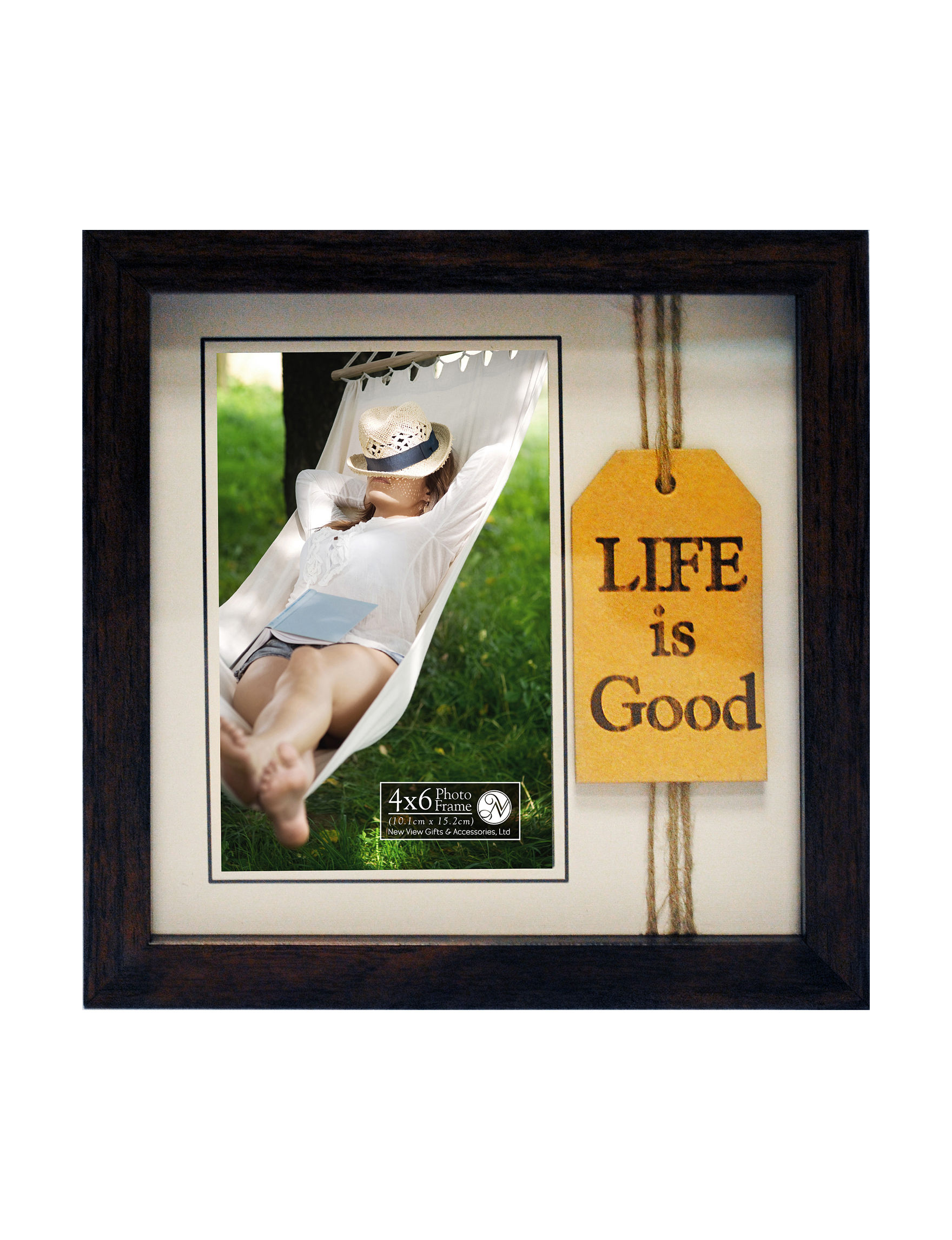 New view life is good frame stage stores new view brown home accents wall decor amipublicfo Images