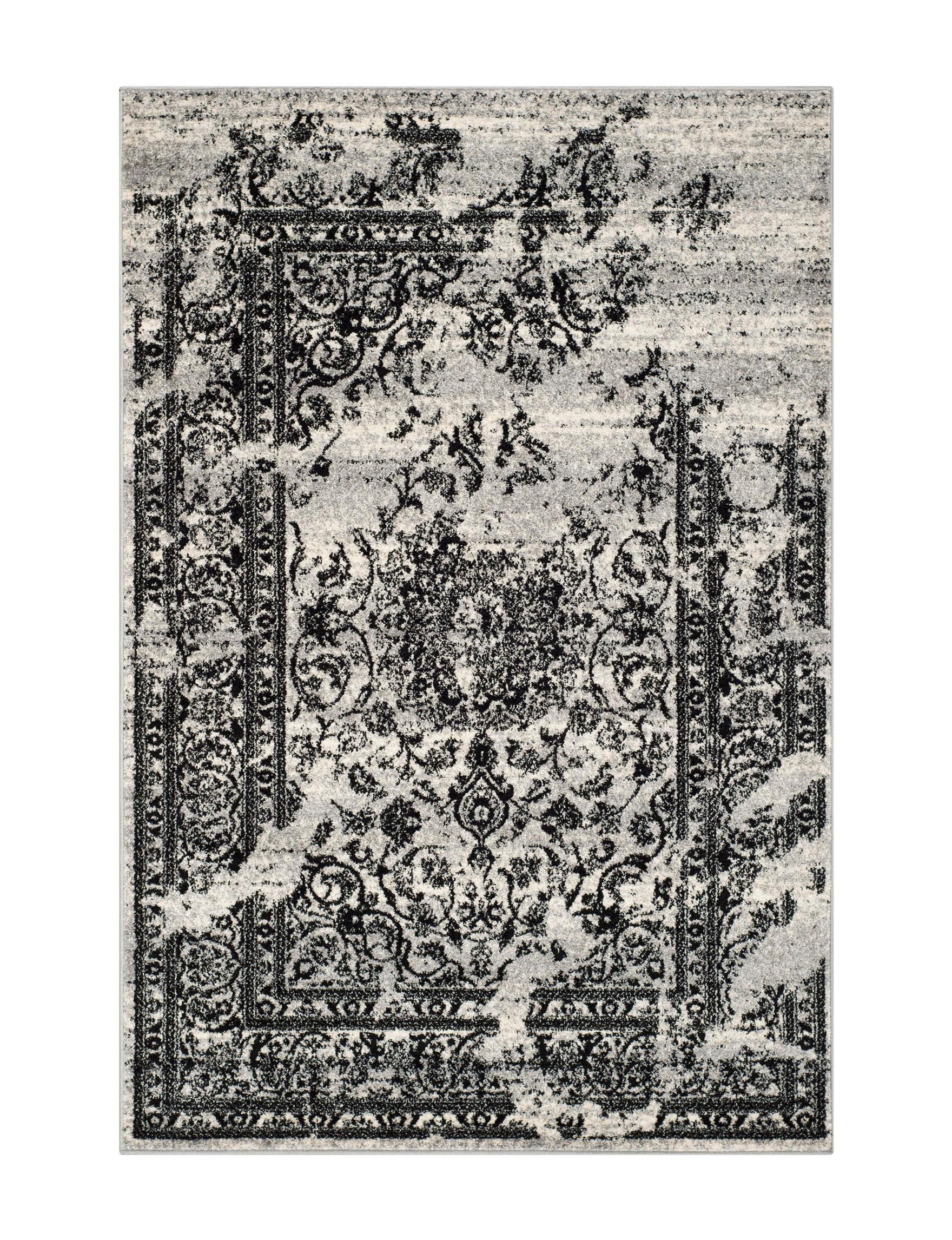 Safavieh Silver / Black Area Rugs