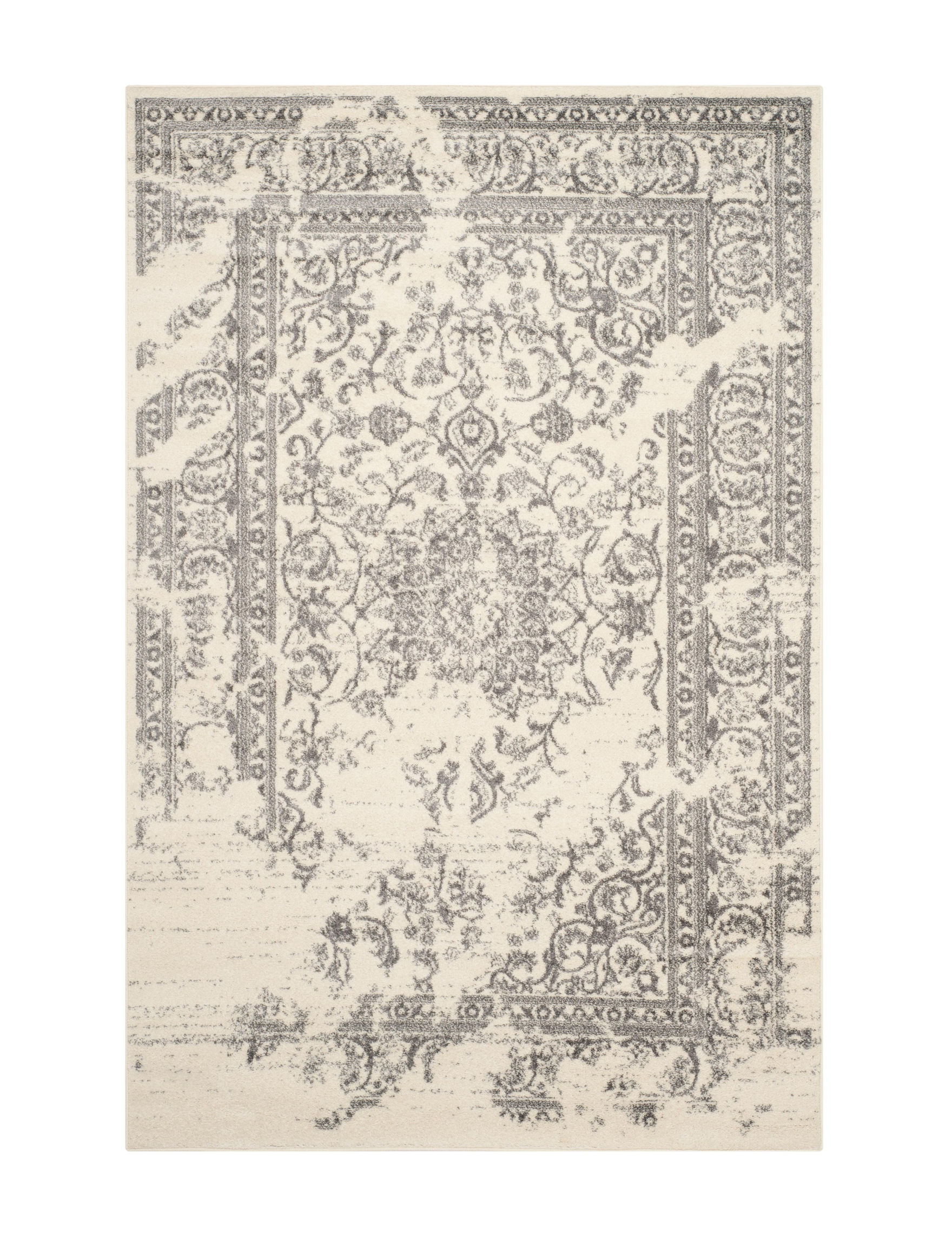 Safavieh Ivory / Silver Area Rugs Runners Rugs