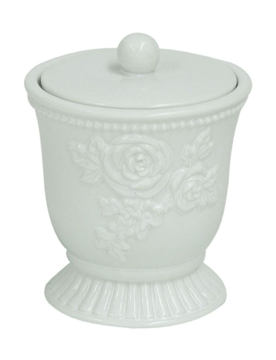 Jessica Simpson White Trays & Jars Bath Accessories