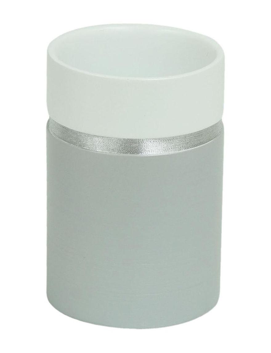 Jessica Simpson Grey Tumblers Bath Accessories