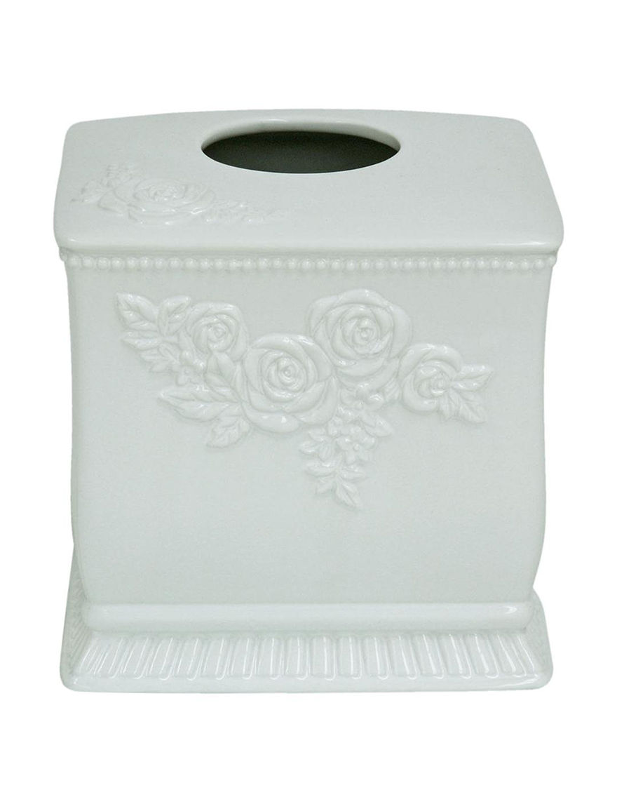 Jessica Simpson White Tissue Box Covers Bath Accessories
