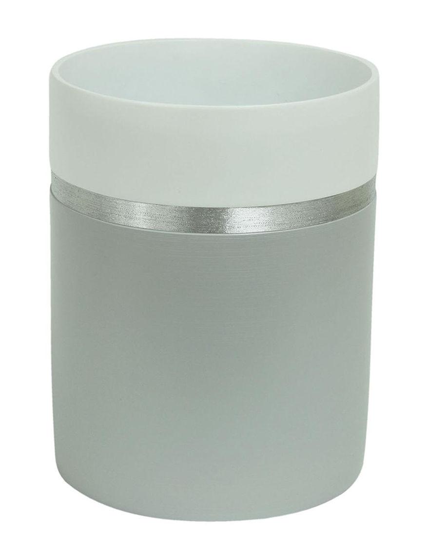 Jessica Simpson Grey Wastebaskets Bath Accessories