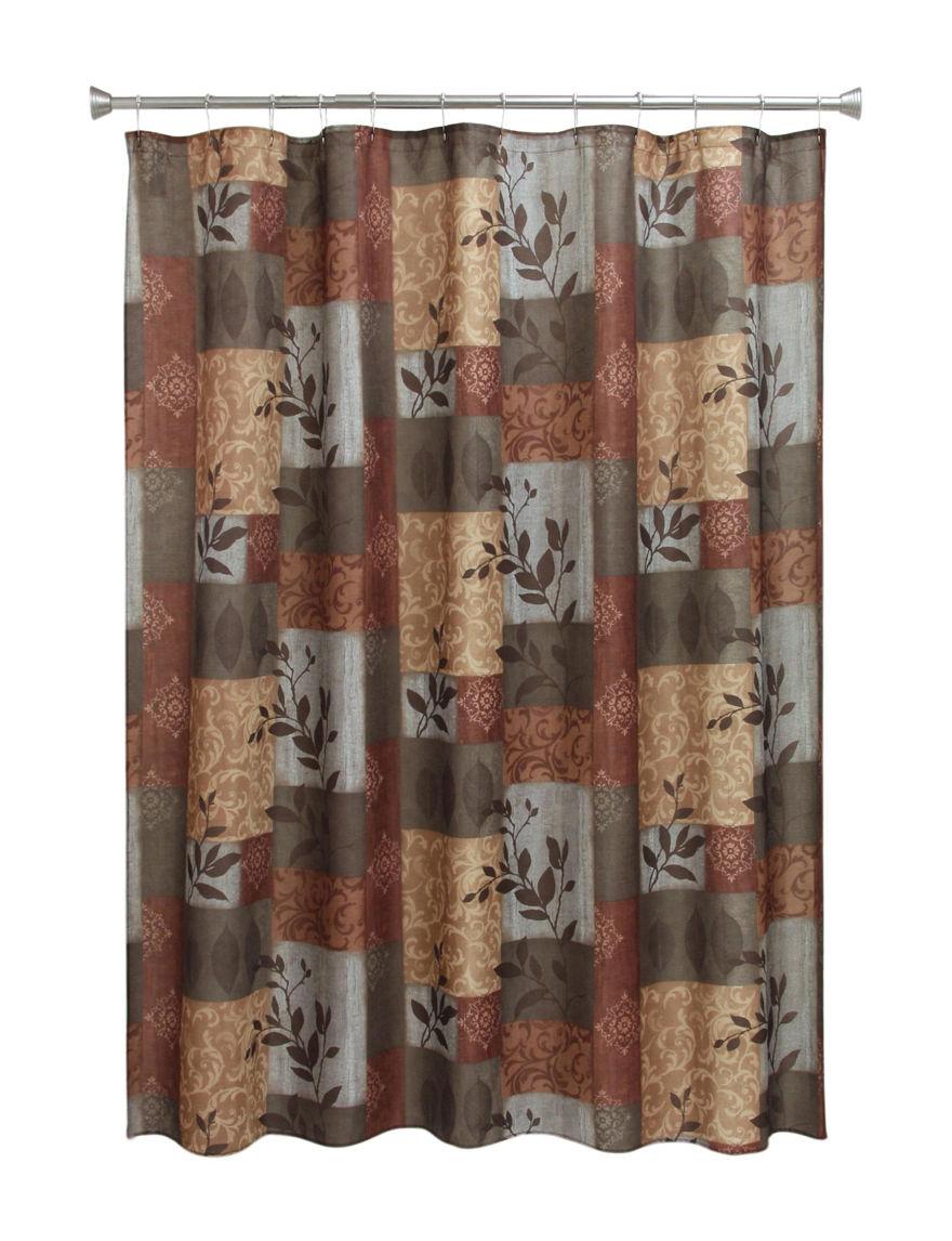 Bacova Guild Rust Shower Curtains & Hooks