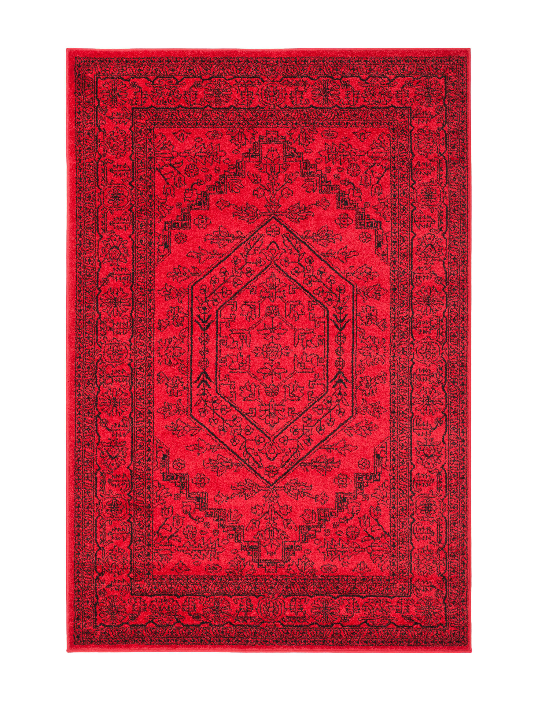 Safavieh Red / Black Area Rugs Rugs