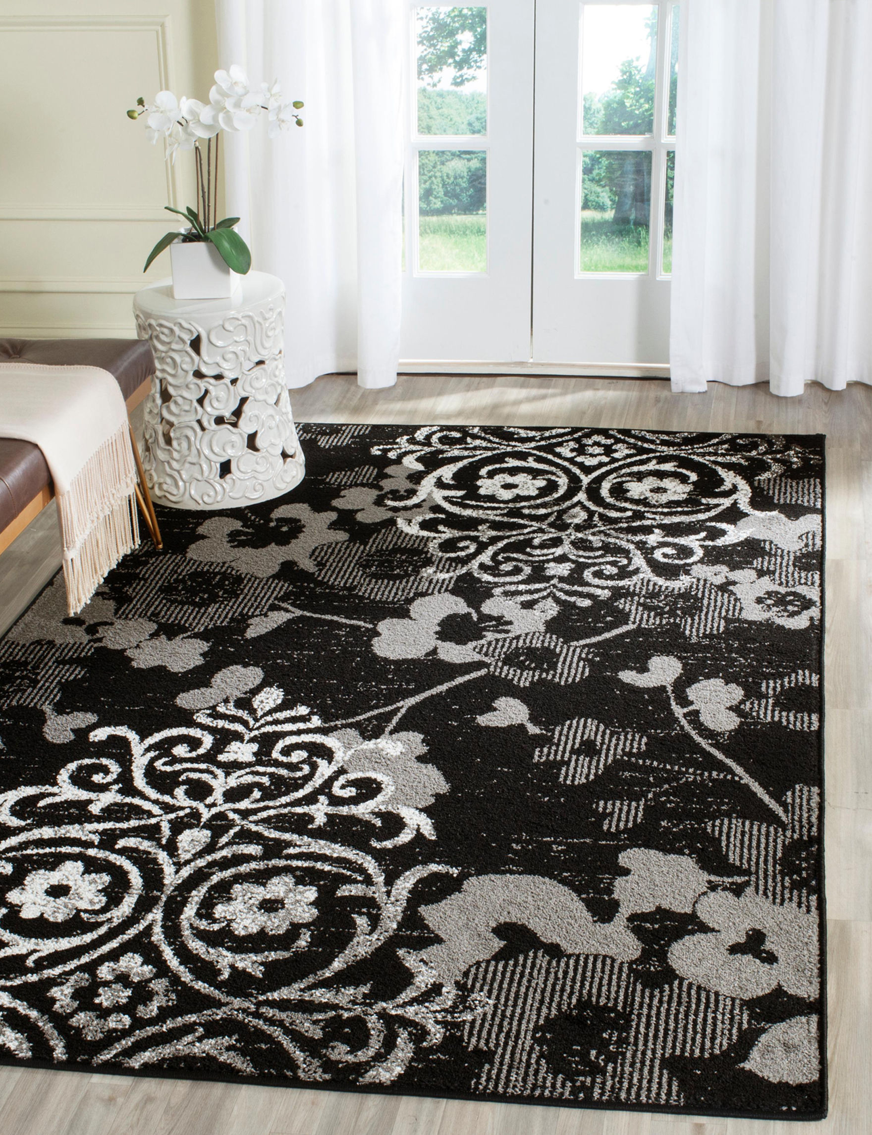 Safavieh Black / Silver Area Rugs Rugs