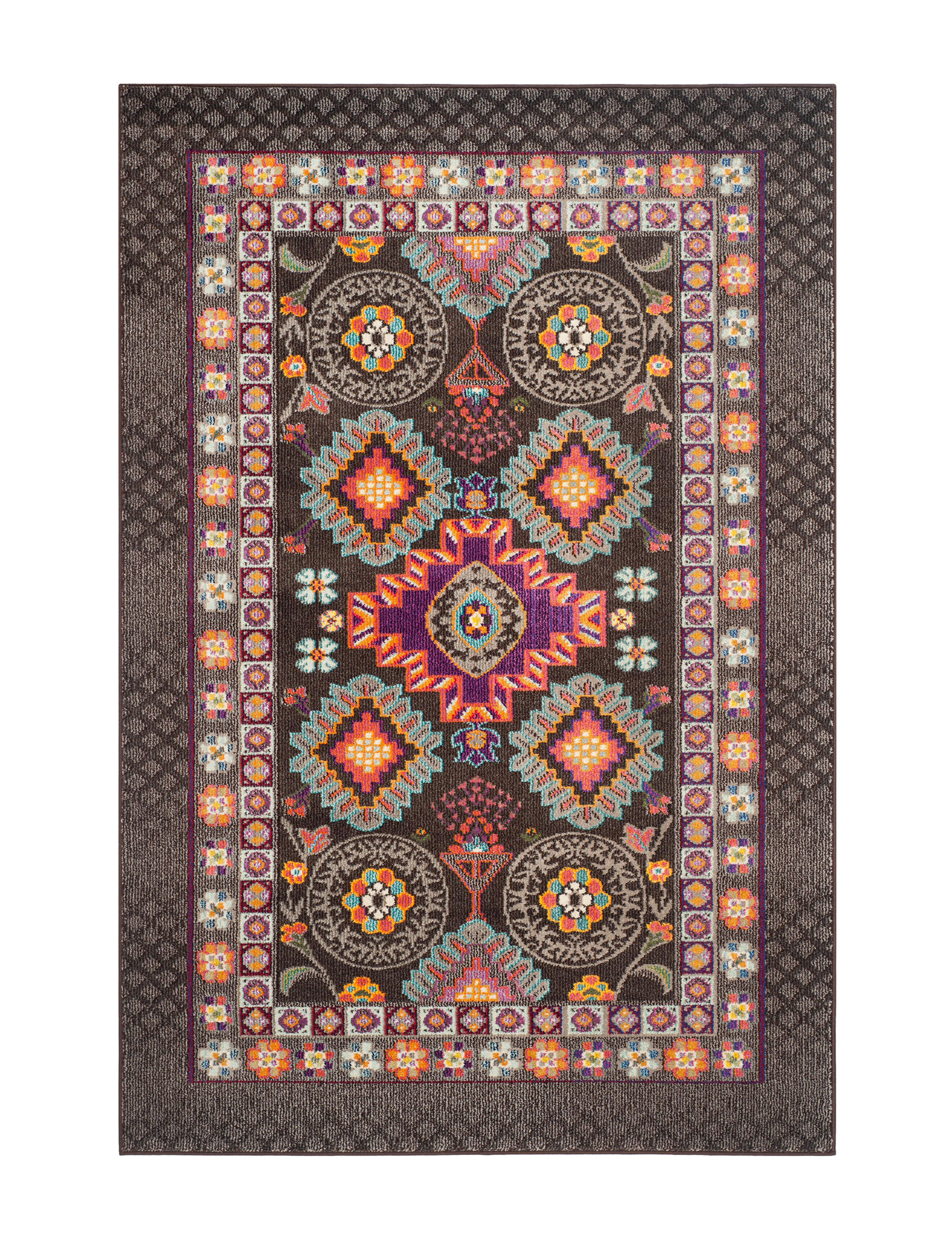 Safavieh Brown / Multi Area Rugs Runners Rugs