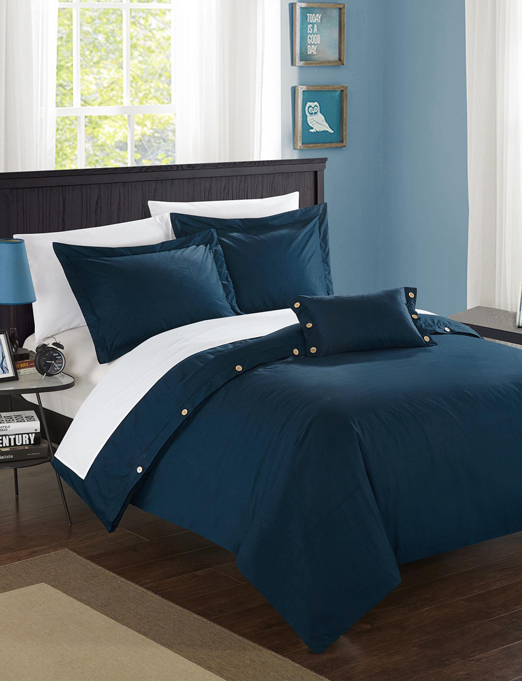 Chic Home Design Navy Duvet Duvets & Duvet Sets