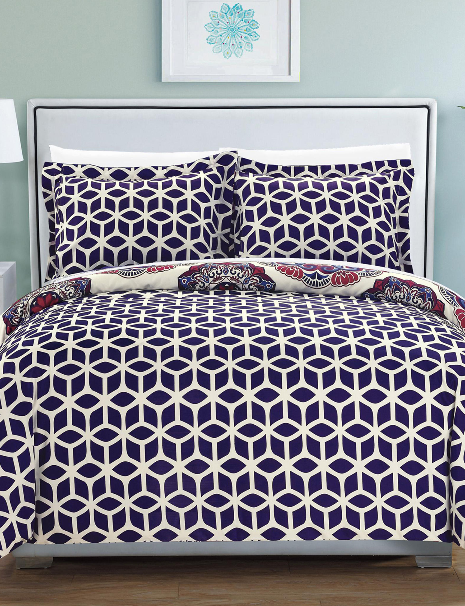 Chic Home Design Navy Duvet Duvets & Duvet Sets