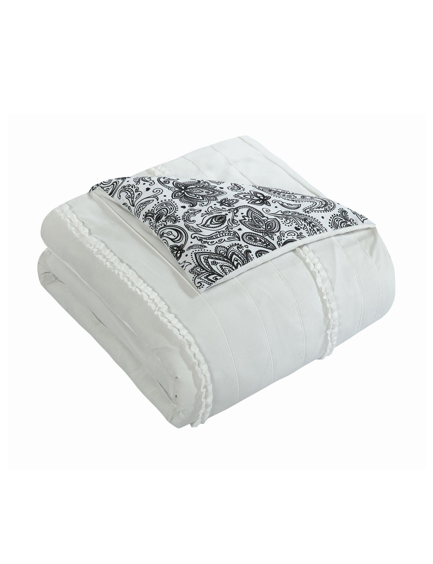 Chic Home Design Thess White Reversible Comforter Set | Stage Stores