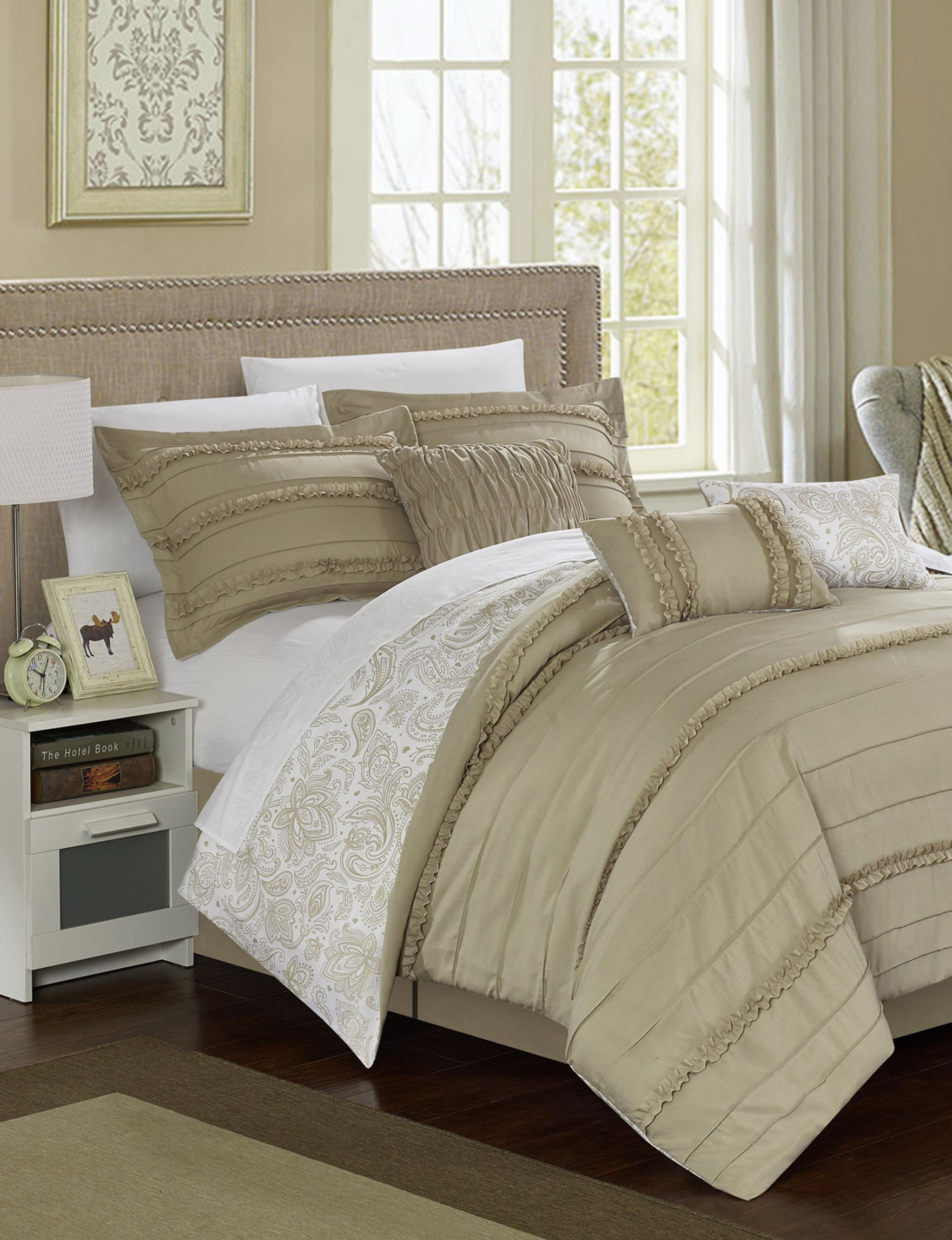 Chic Home Design Beige Comforters & Comforter Sets