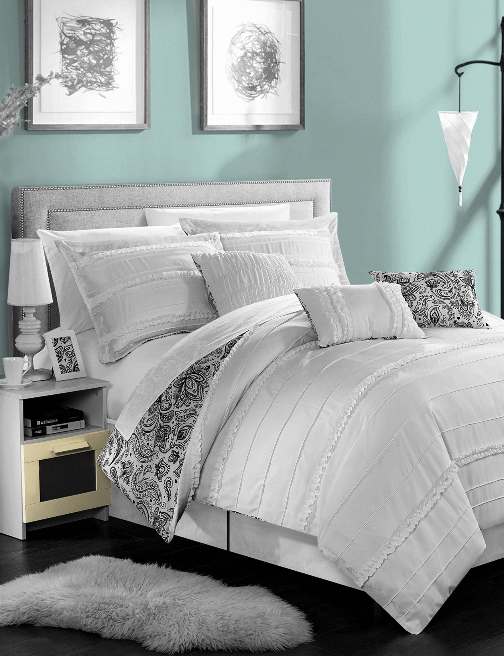 Chic Home Design White Comforters & Comforter Sets