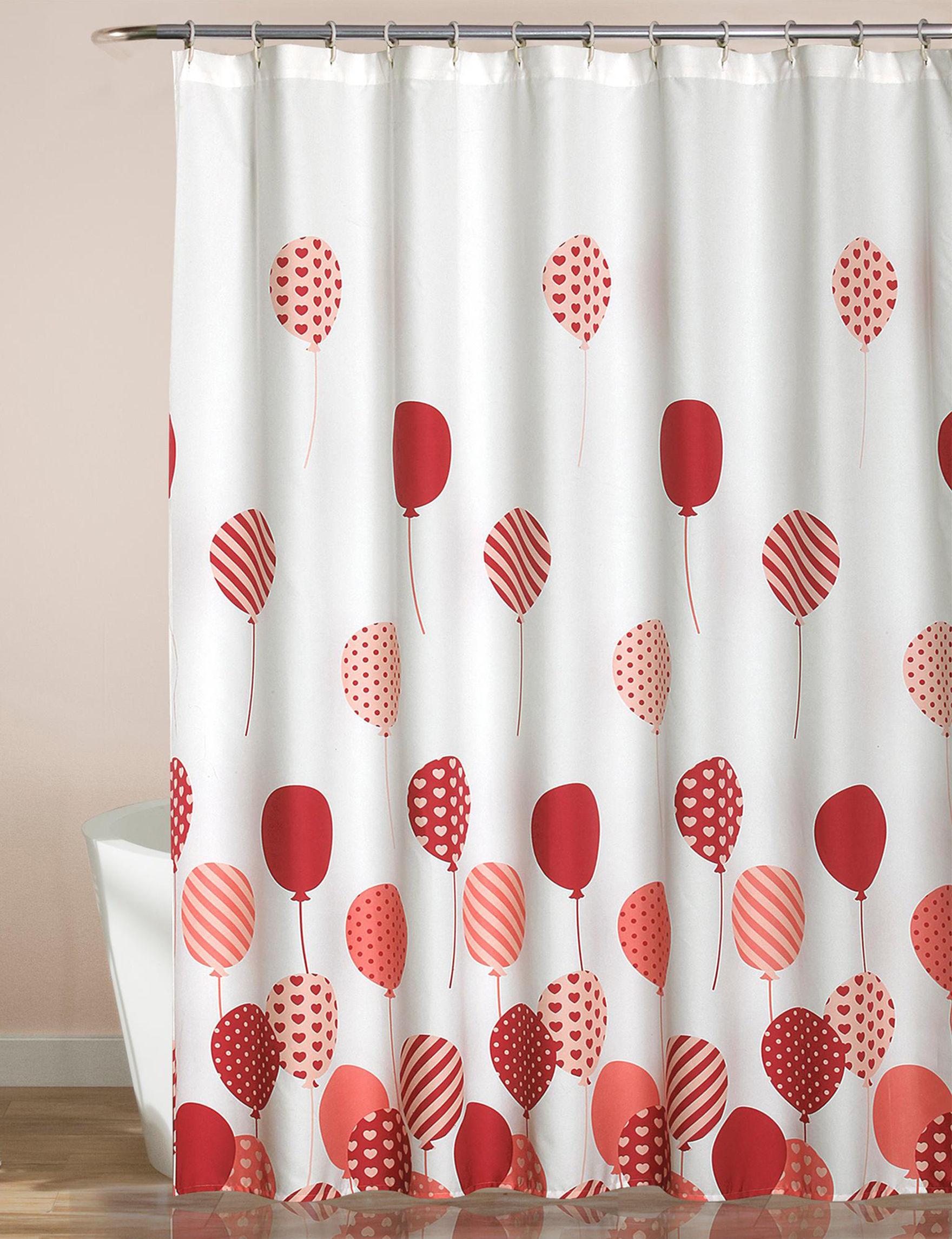 Lush Decor Pink Shower Curtains & Hooks