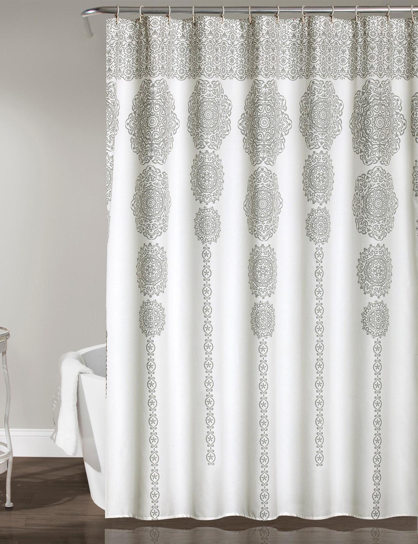 Lush Decor Grey Shower Curtains & Hooks