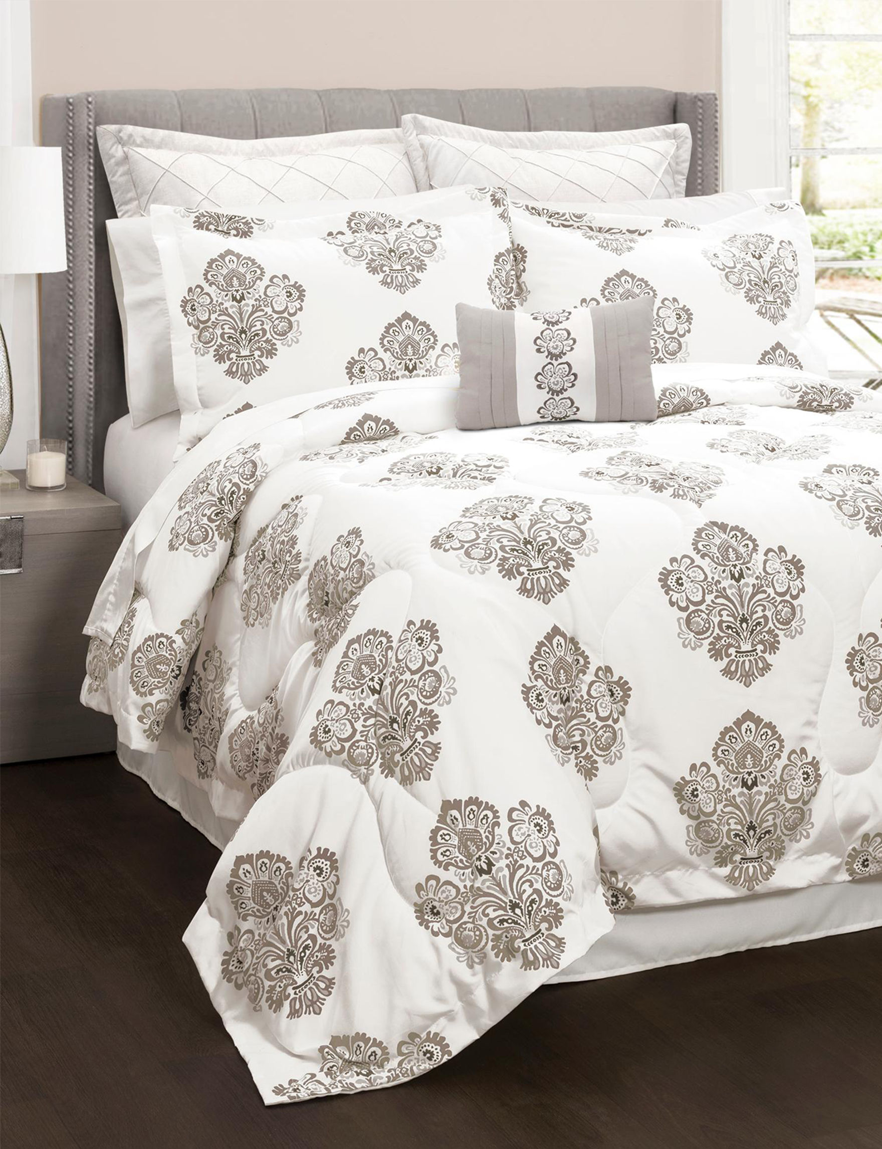 Lush Decor Grey Comforters & Comforter Sets