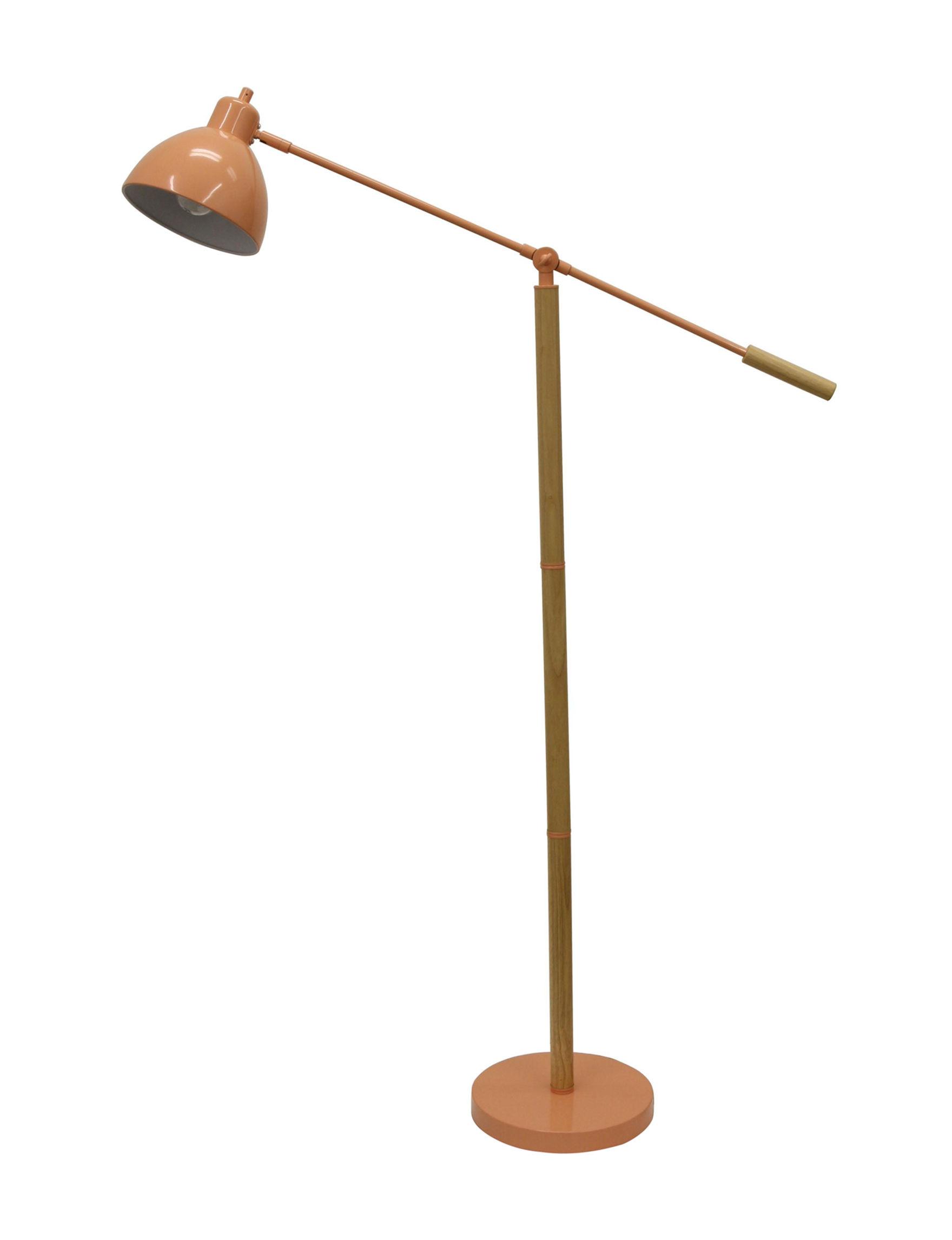 Decor Therapy Orange Floor Lamps Lighting & Lamps
