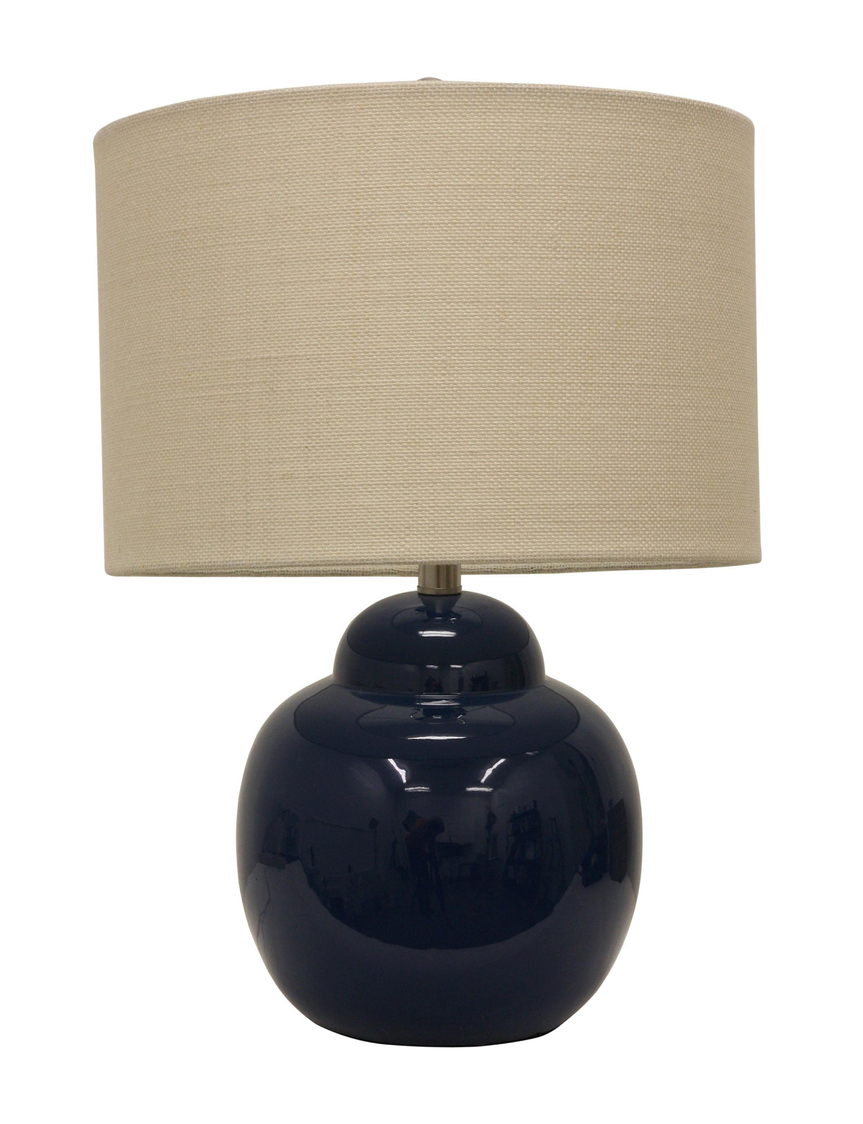 Decor Therapy Navy Table Lamps Lighting & Lamps