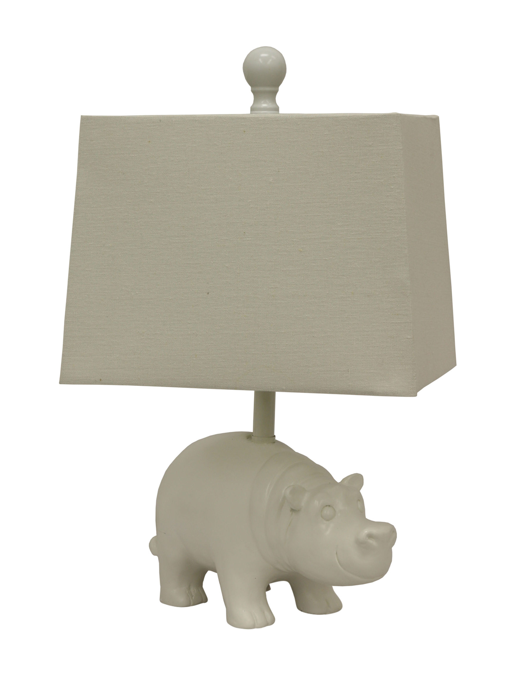 Decor Therapy Gloss White Hippo Stage Stores