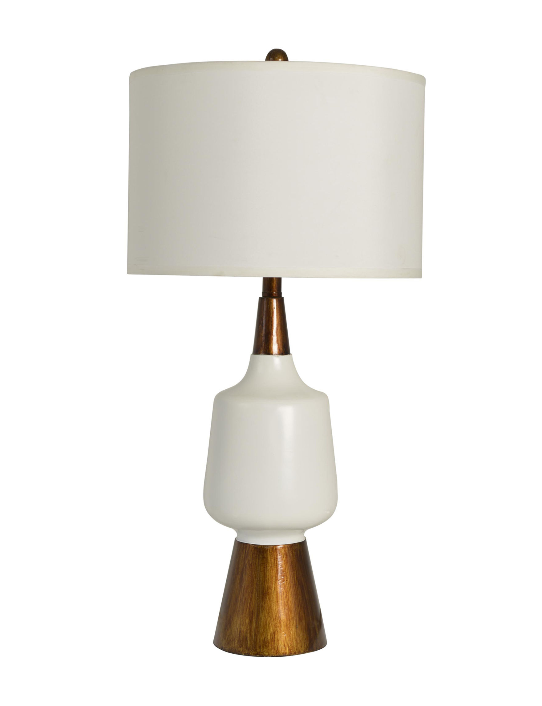 Decor Therapy White / Bronze Table Lamps Lighting & Lamps