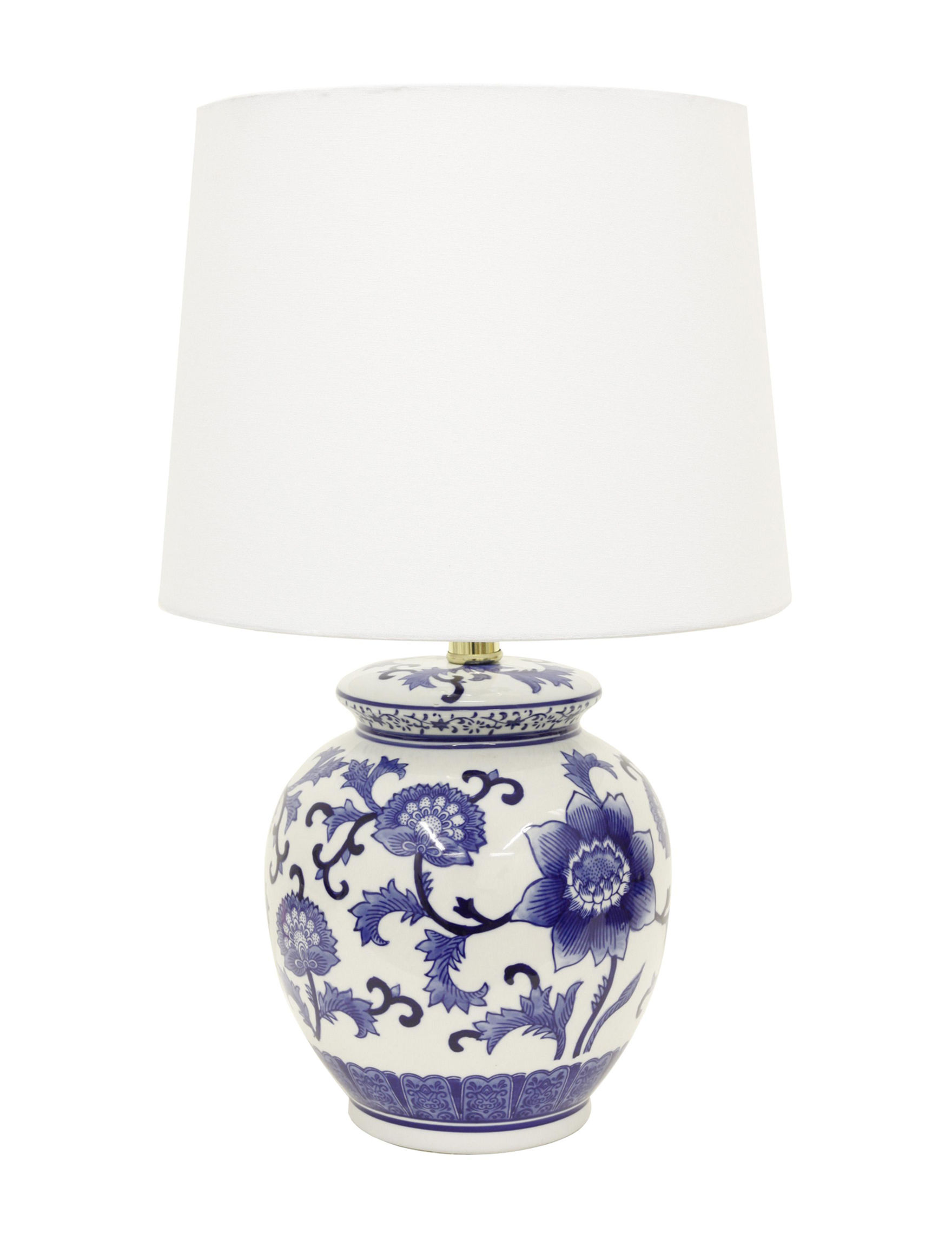Decor Therapy Blue / White Table Lamps Lighting & Lamps