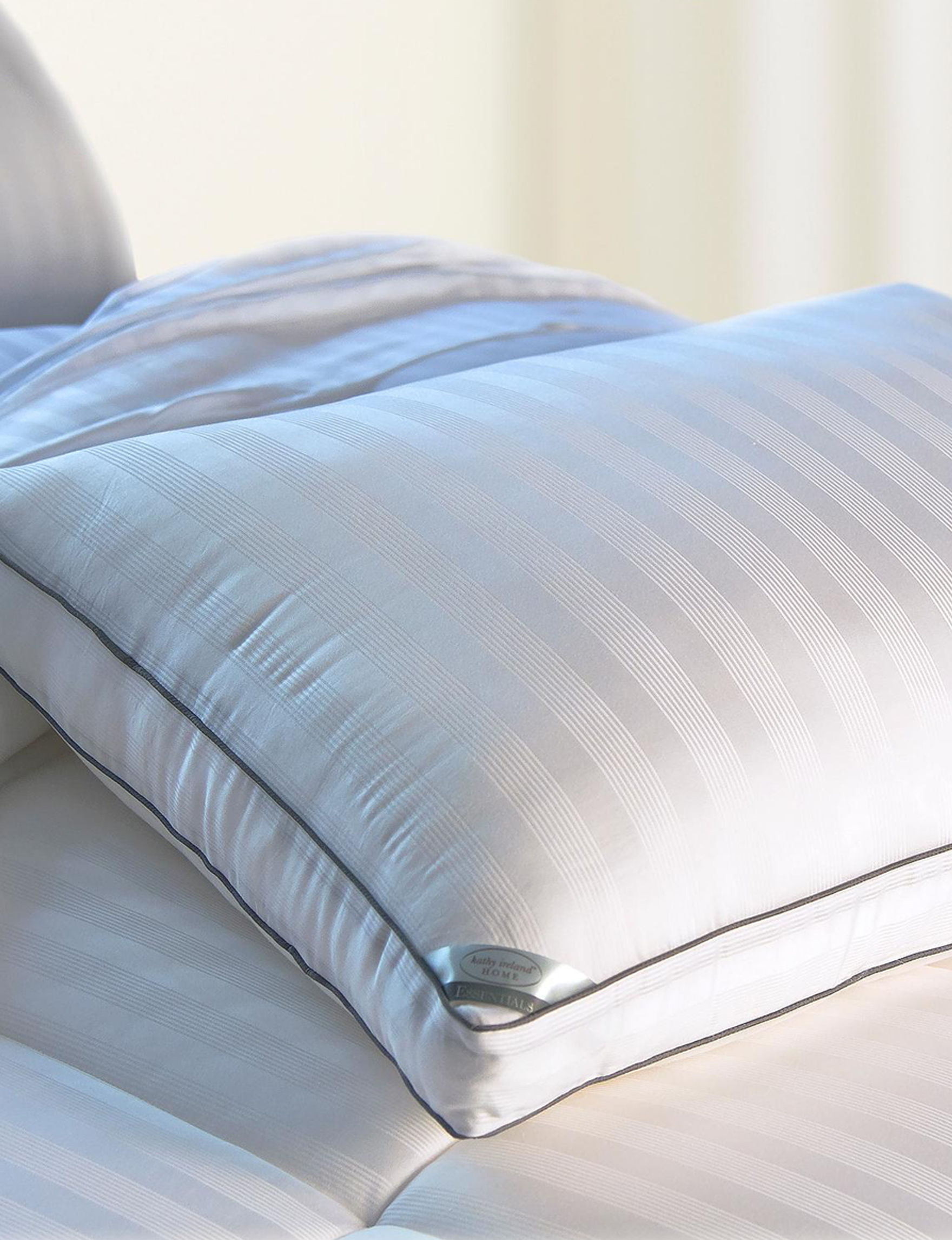 Kathy Ireland White Bed Pillows