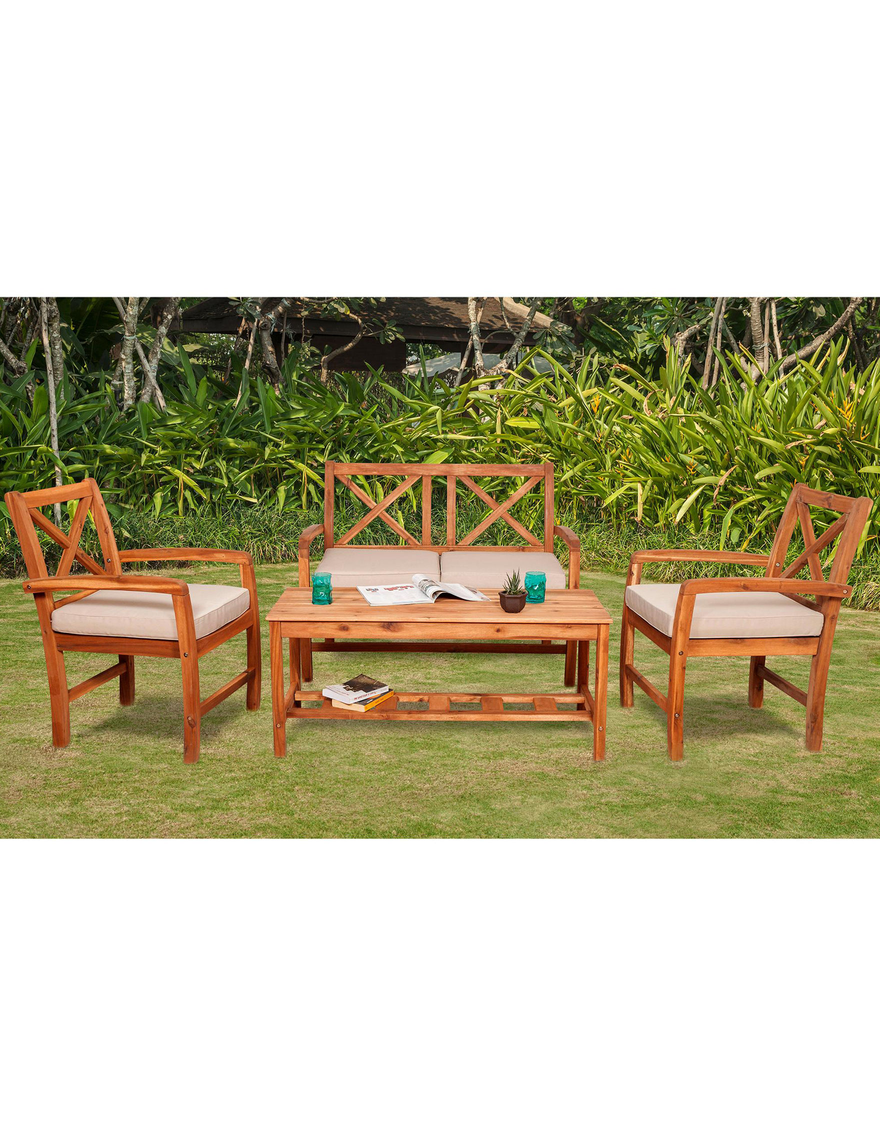 Walker Edison Brown Patio & Outdoor Furniture