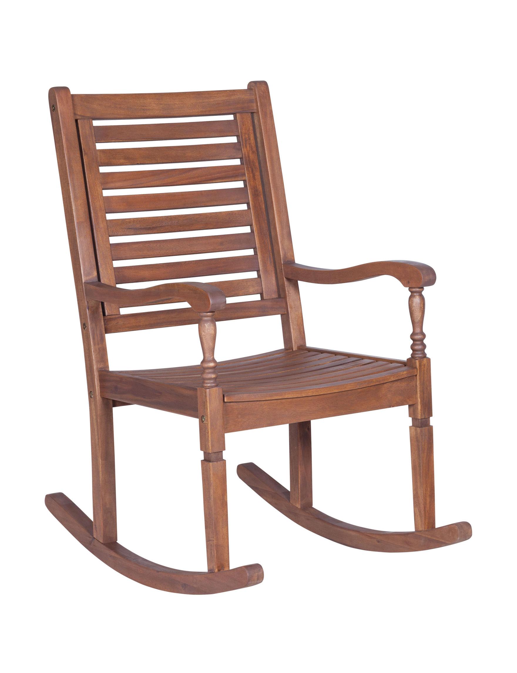 Walker Edison Dark Brown Patio & Outdoor Furniture