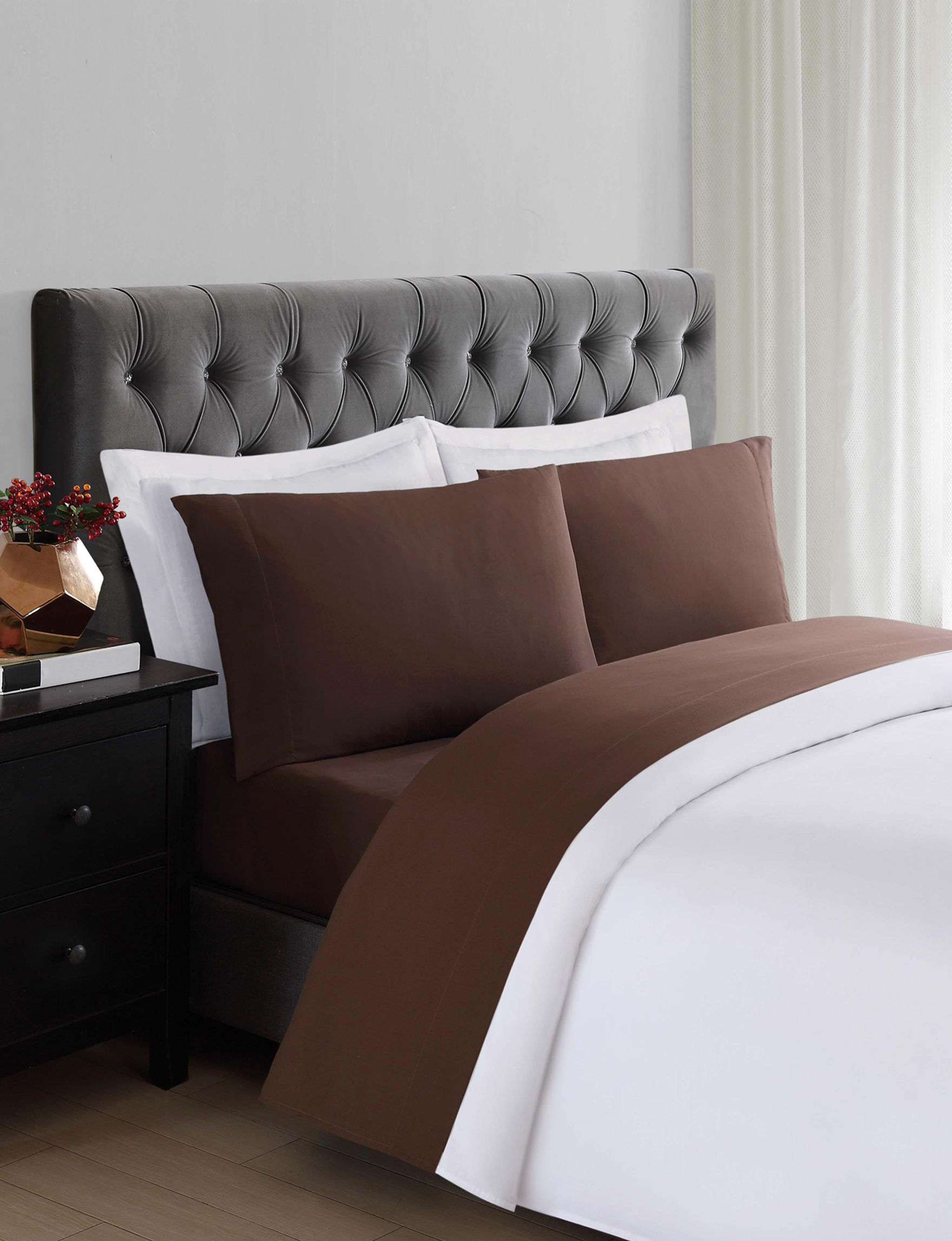 Truly Soft Brown Sheets & Pillowcases