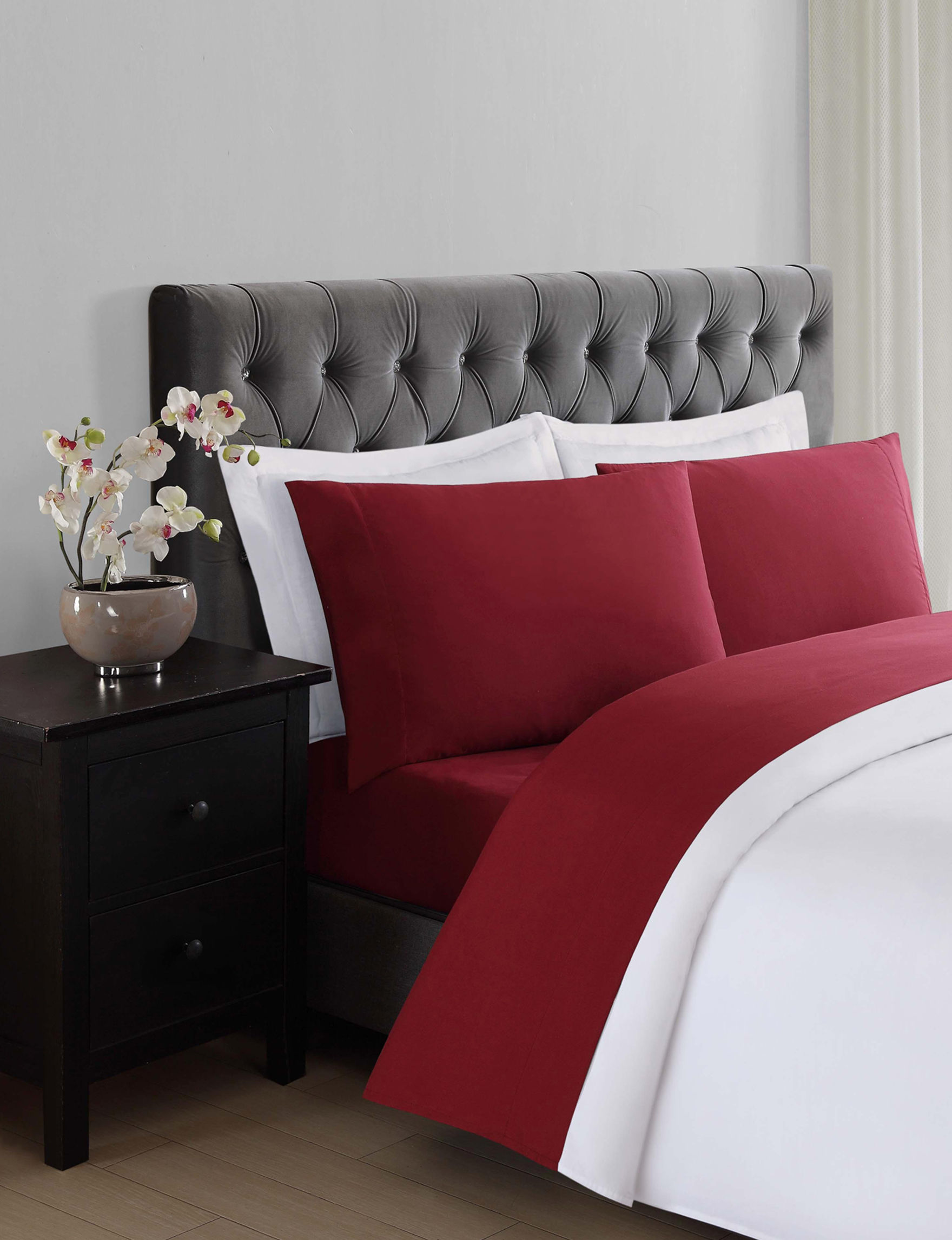 Truly Soft Burgundy Sheets & Pillowcases