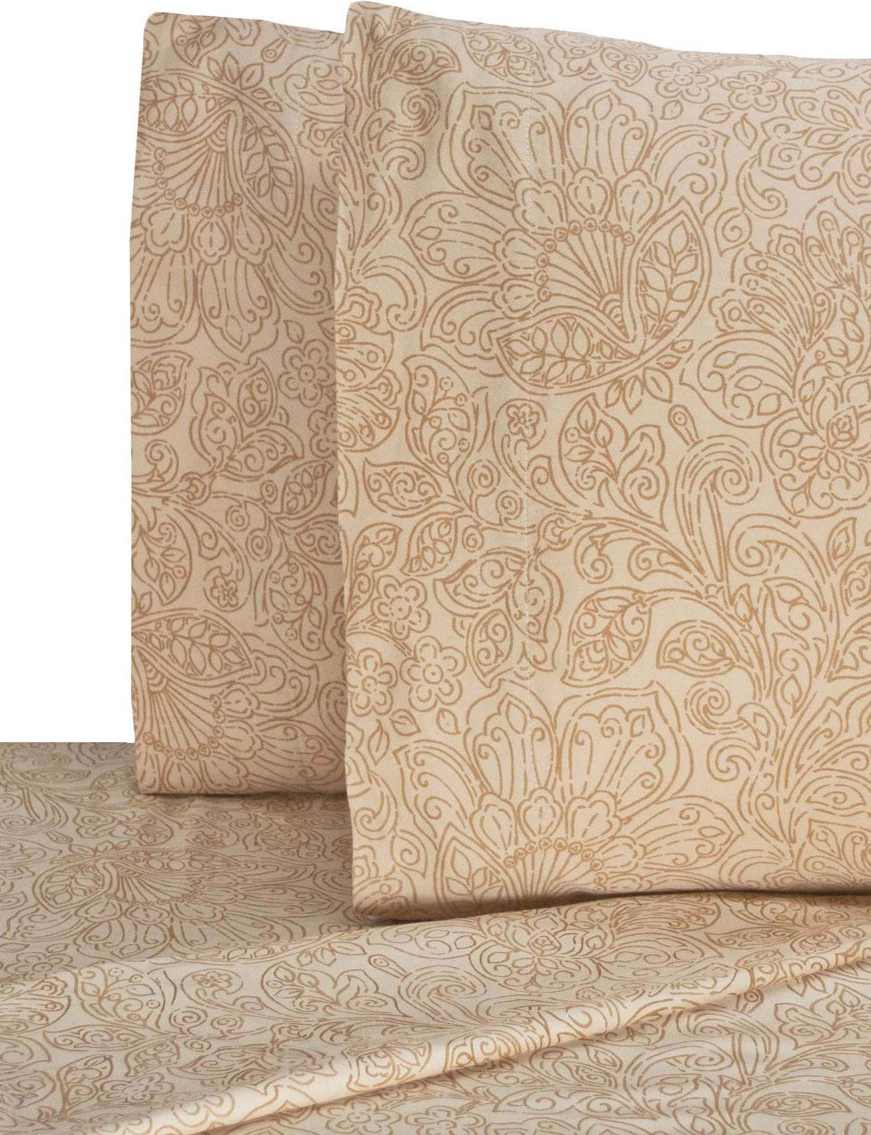 V1969 Ivory Sheets & Pillowcases