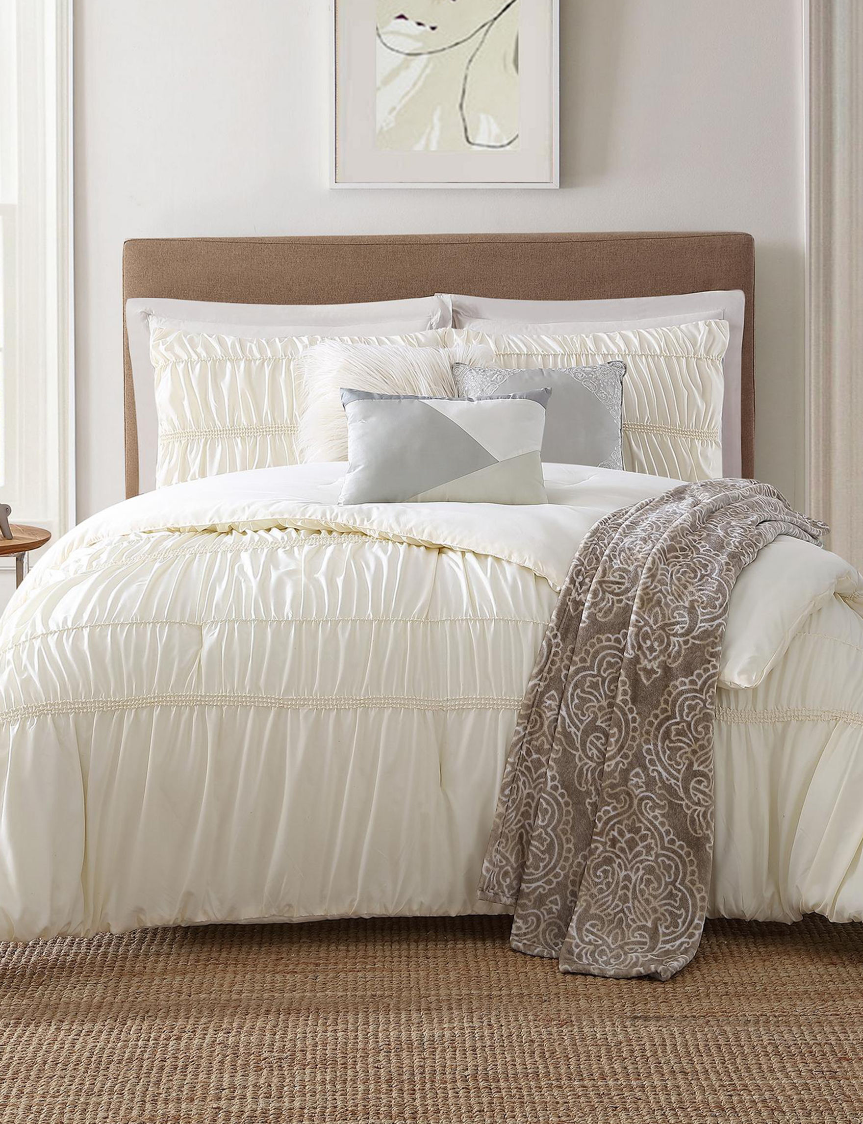 Jennifer Adams Ecru Comforters & Comforter Sets